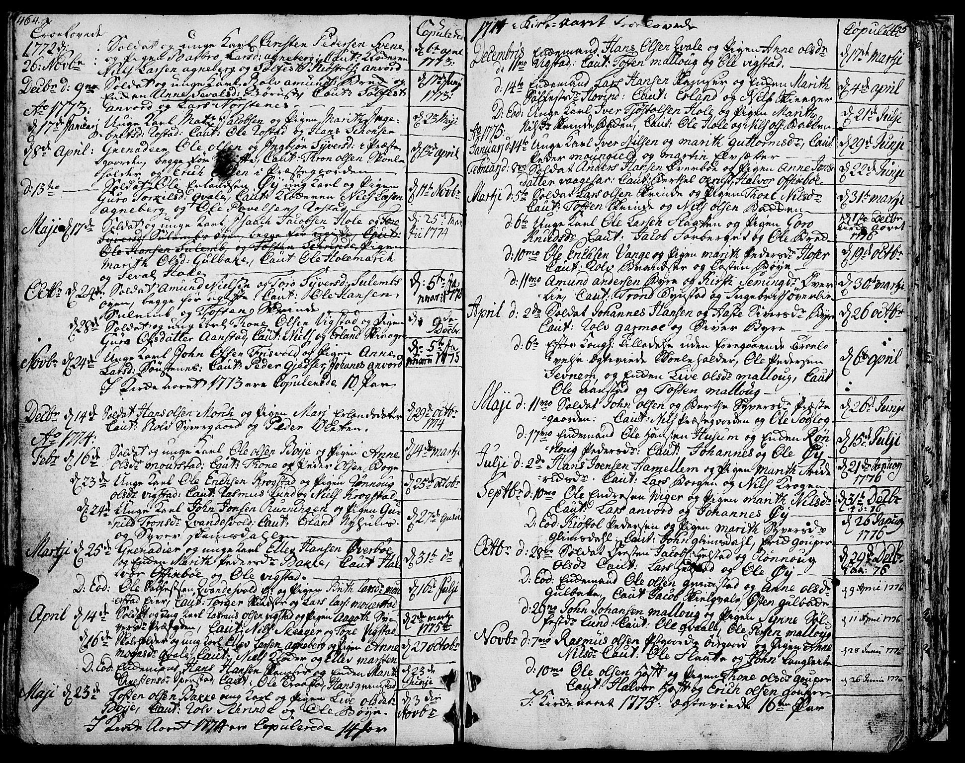 SAH, Lom prestekontor, K/L0002: Ministerialbok nr. 2, 1749-1801, s. 464-465