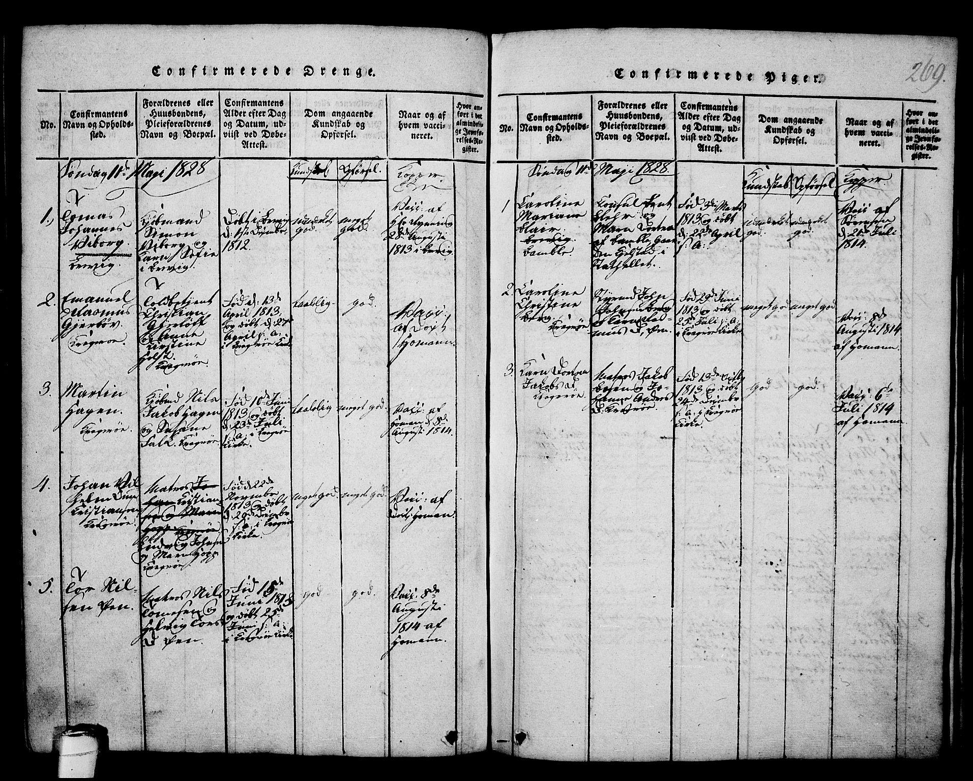 SAKO, Kragerø kirkebøker, G/Ga/L0002: Klokkerbok nr. 2, 1814-1831, s. 269