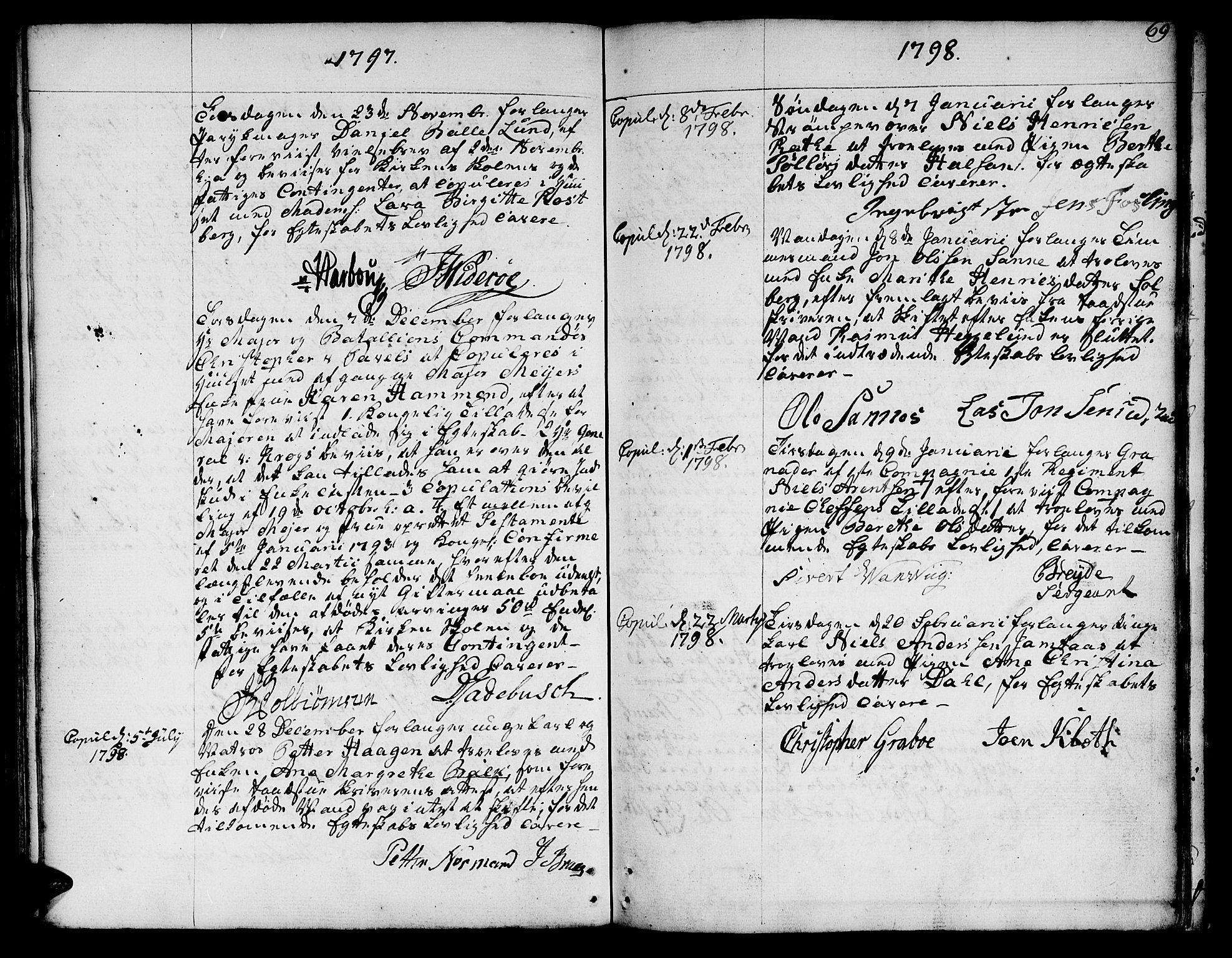 SAT, Ministerialprotokoller, klokkerbøker og fødselsregistre - Sør-Trøndelag, 601/L0041: Ministerialbok nr. 601A09, 1784-1801, s. 69