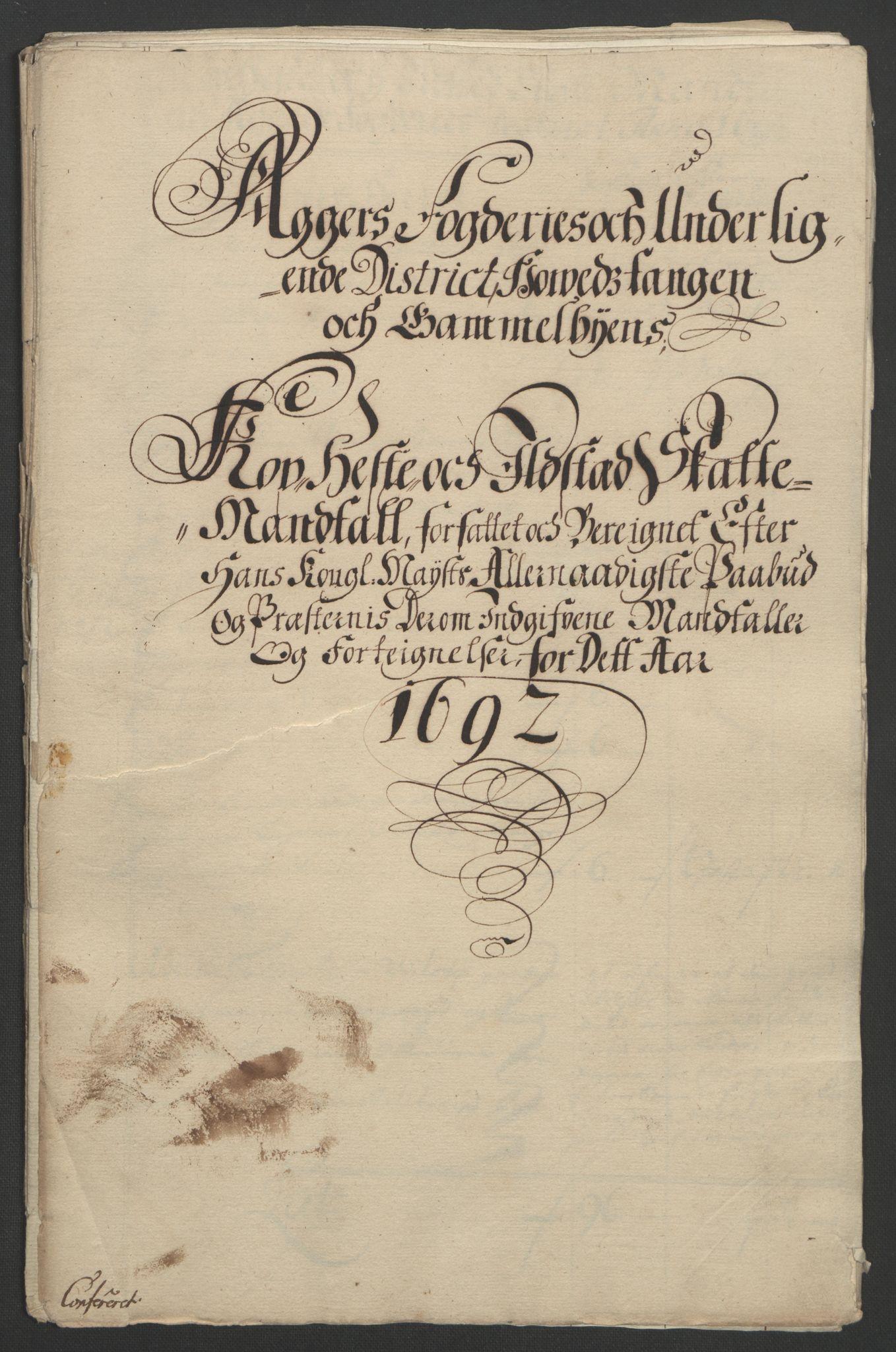 RA, Rentekammeret inntil 1814, Reviderte regnskaper, Fogderegnskap, R08/L0426: Fogderegnskap Aker, 1692-1693, s. 125