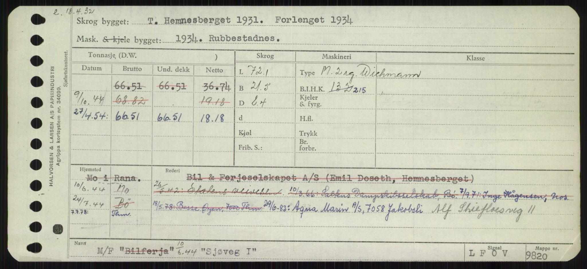 RA, Sjøfartsdirektoratet med forløpere, Skipsmålingen, H/Ha/L0005: Fartøy, s. 599