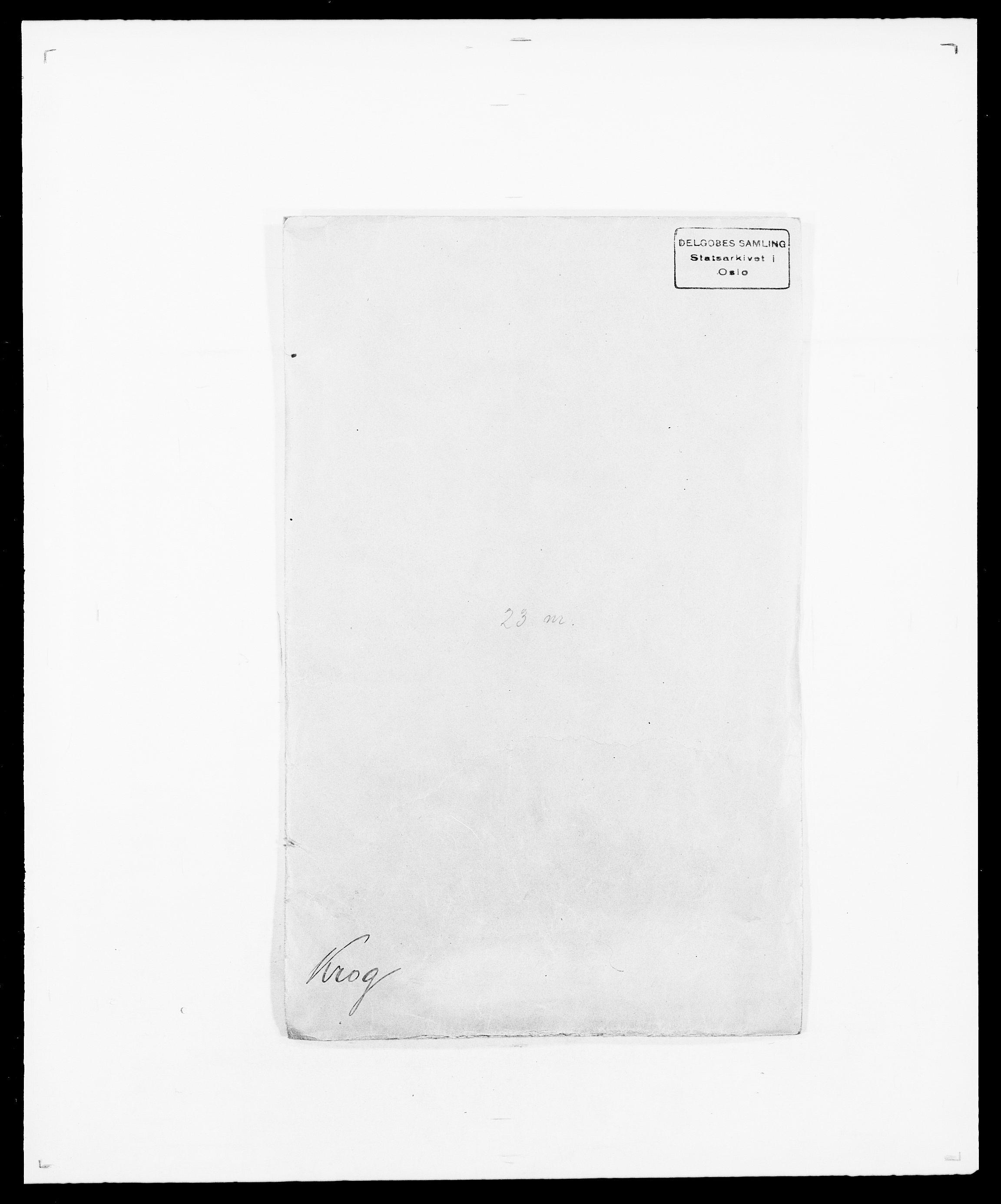 SAO, Delgobe, Charles Antoine - samling, D/Da/L0022: Krog - Lasteen, s. 1