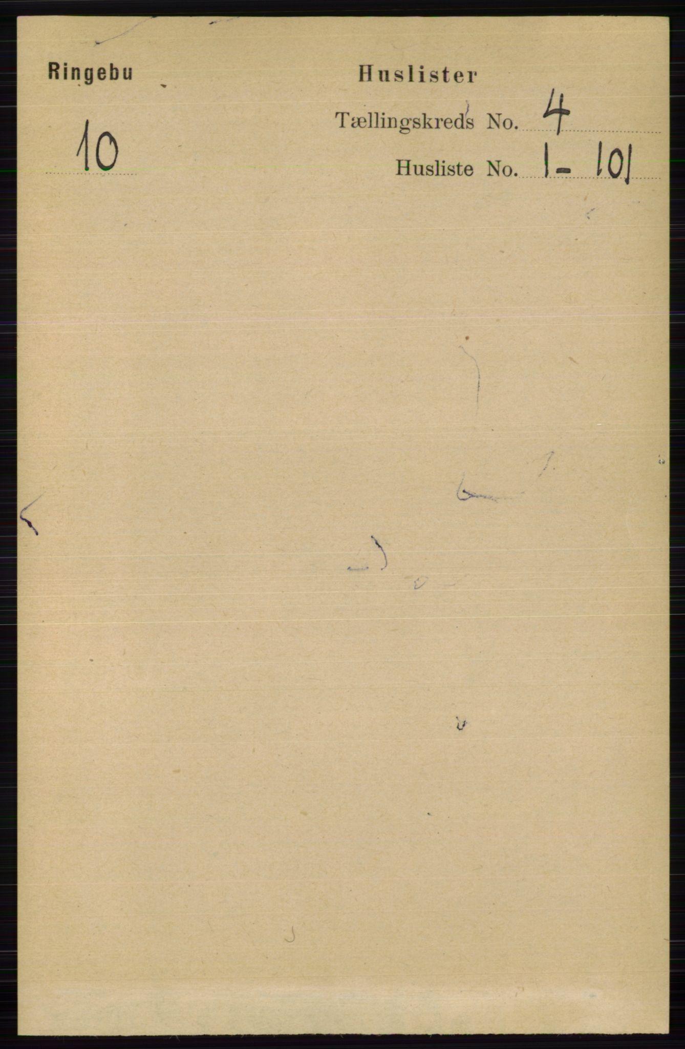 RA, Folketelling 1891 for 0520 Ringebu herred, 1891, s. 1259