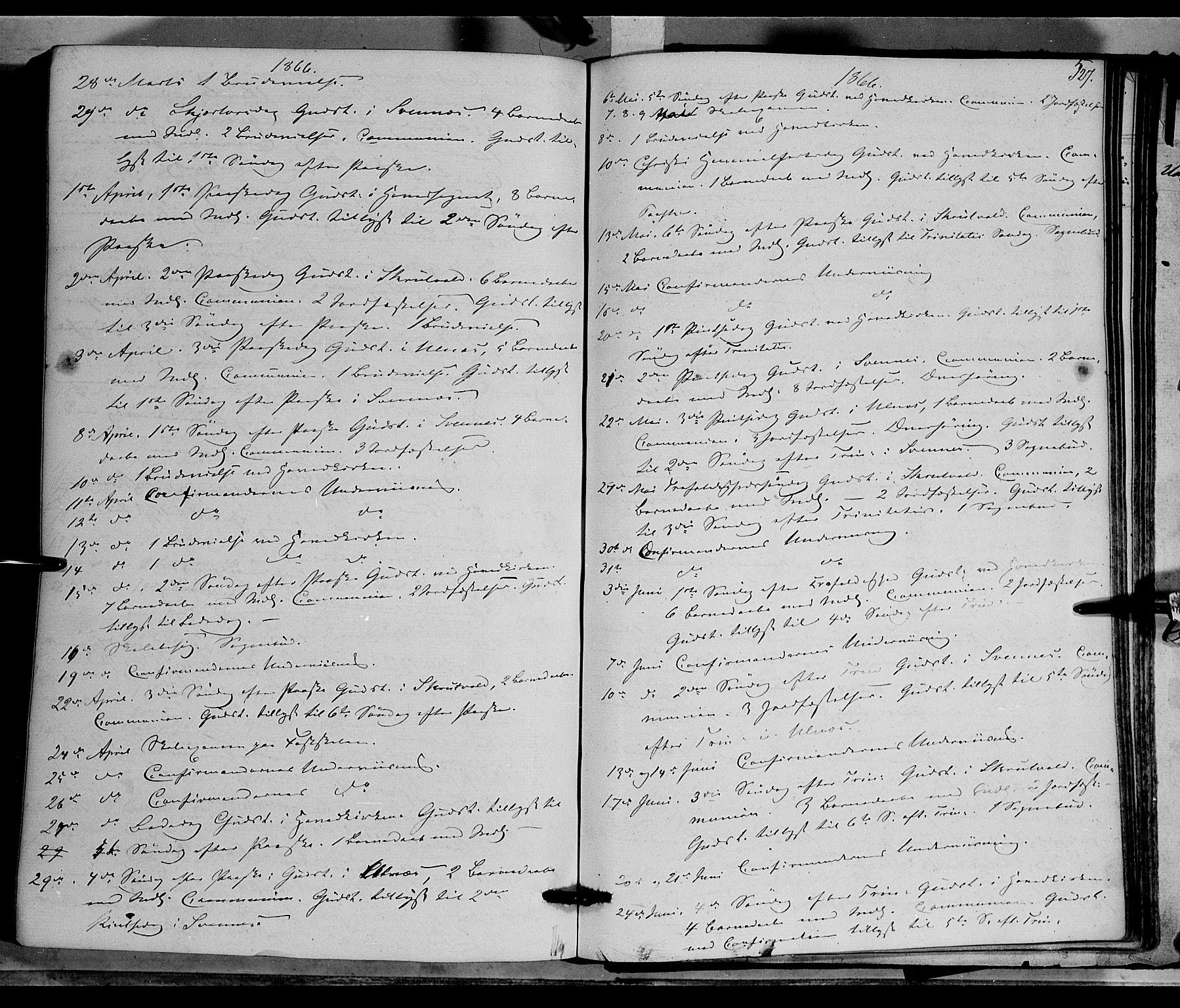 SAH, Nord-Aurdal prestekontor, Ministerialbok nr. 8, 1863-1875, s. 527