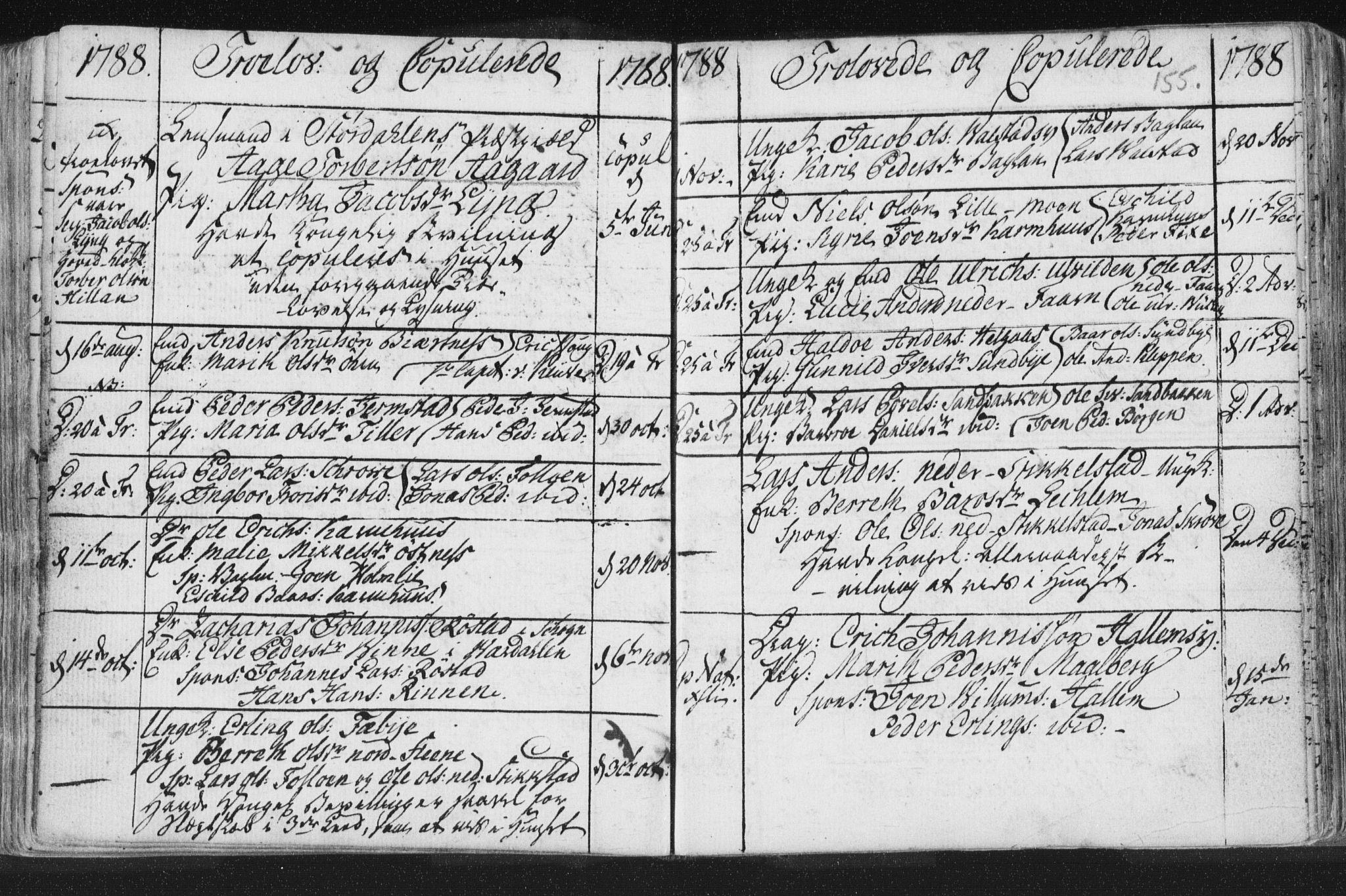 SAT, Ministerialprotokoller, klokkerbøker og fødselsregistre - Nord-Trøndelag, 723/L0232: Ministerialbok nr. 723A03, 1781-1804, s. 155