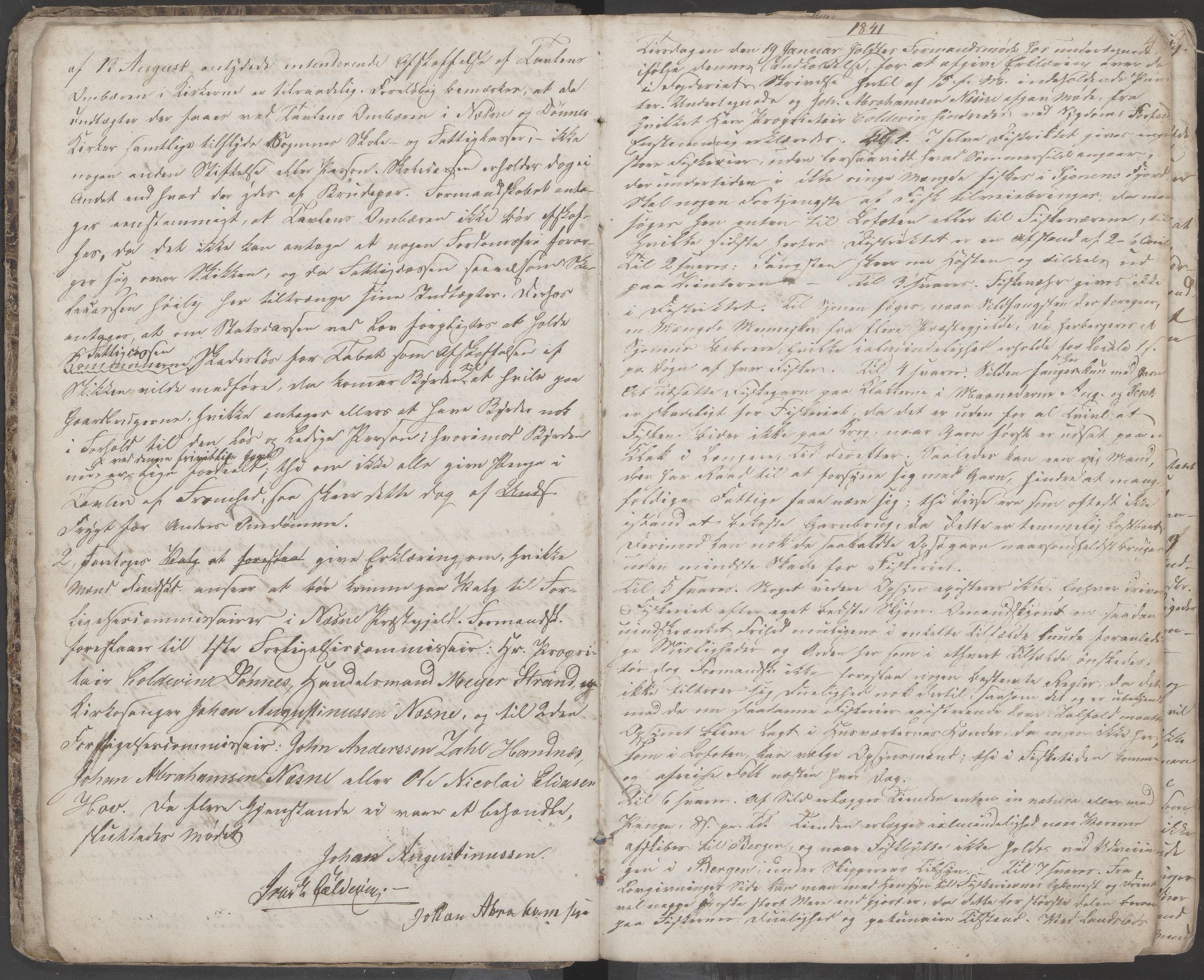 AIN, Nesna kommune. Formannskapet, 100/L0001: Møtebok, 1838-1873, s. 4