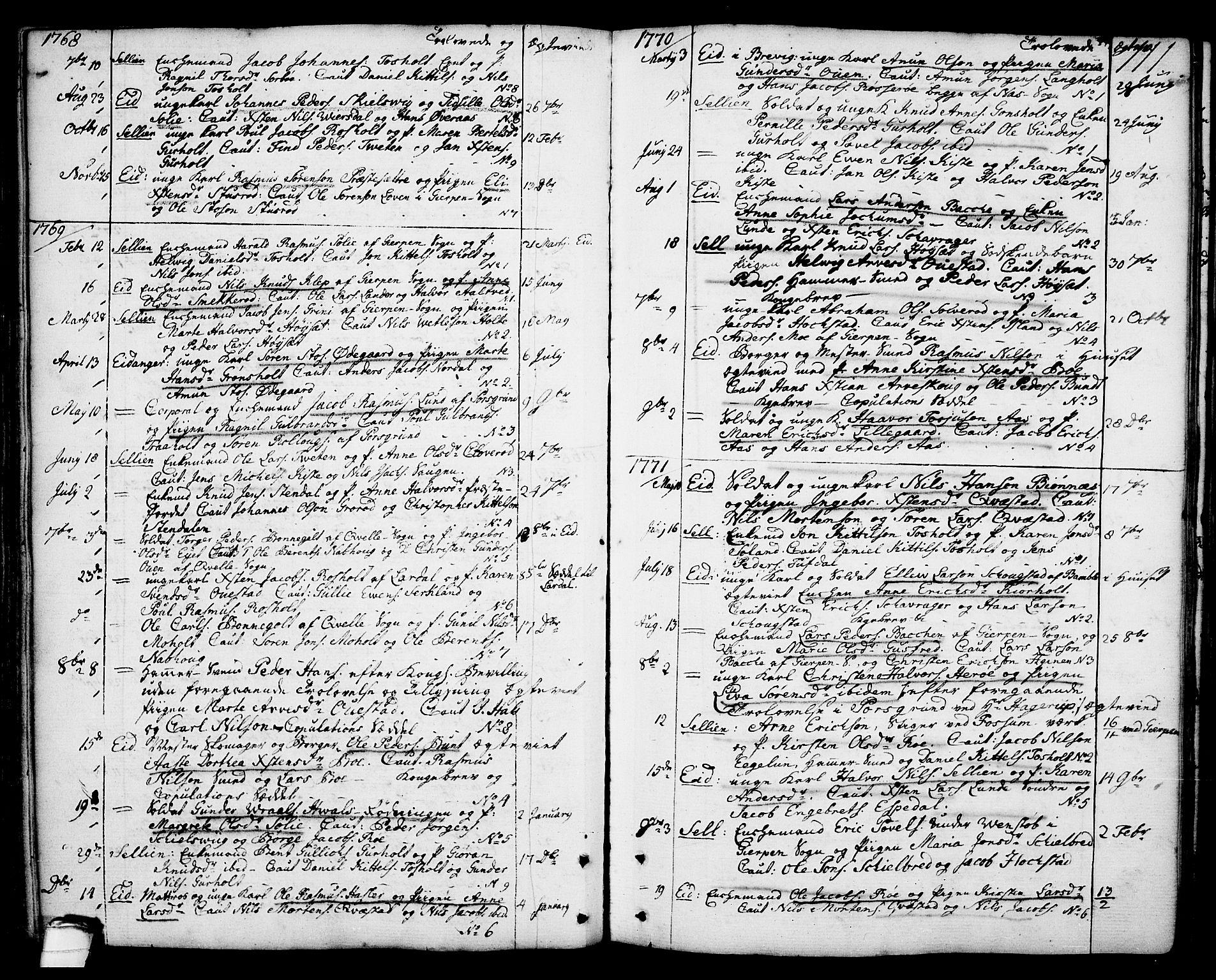 SAKO, Eidanger kirkebøker, F/Fa/L0006: Ministerialbok nr. 6, 1764-1814, s. 111