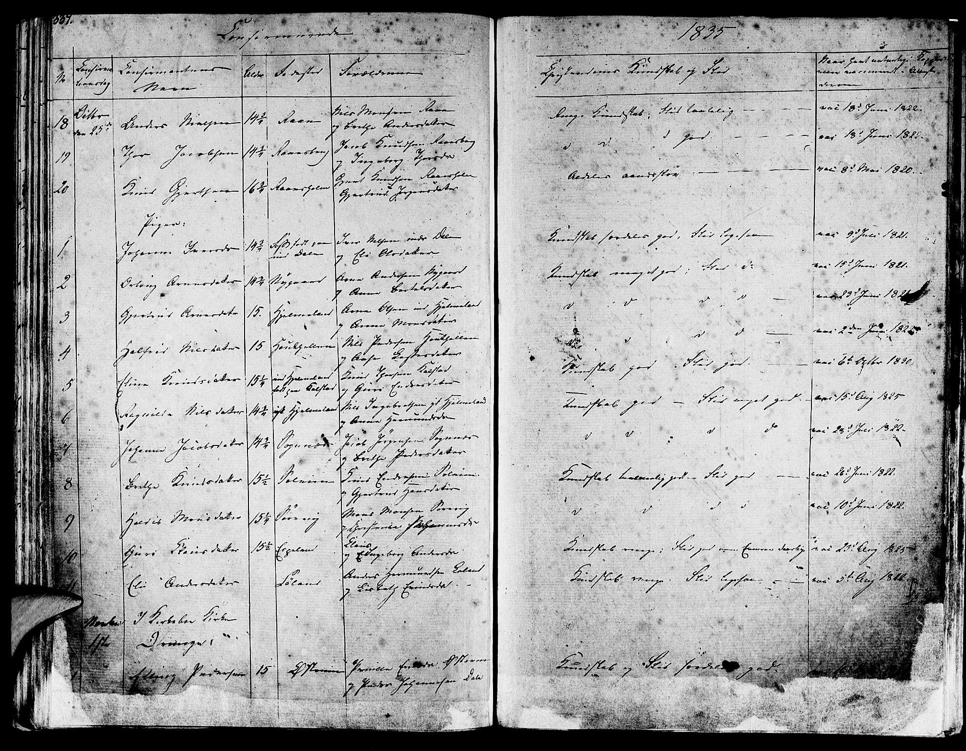 SAB, Lavik sokneprestembete, Ministerialbok nr. A 2I, 1821-1842, s. 337