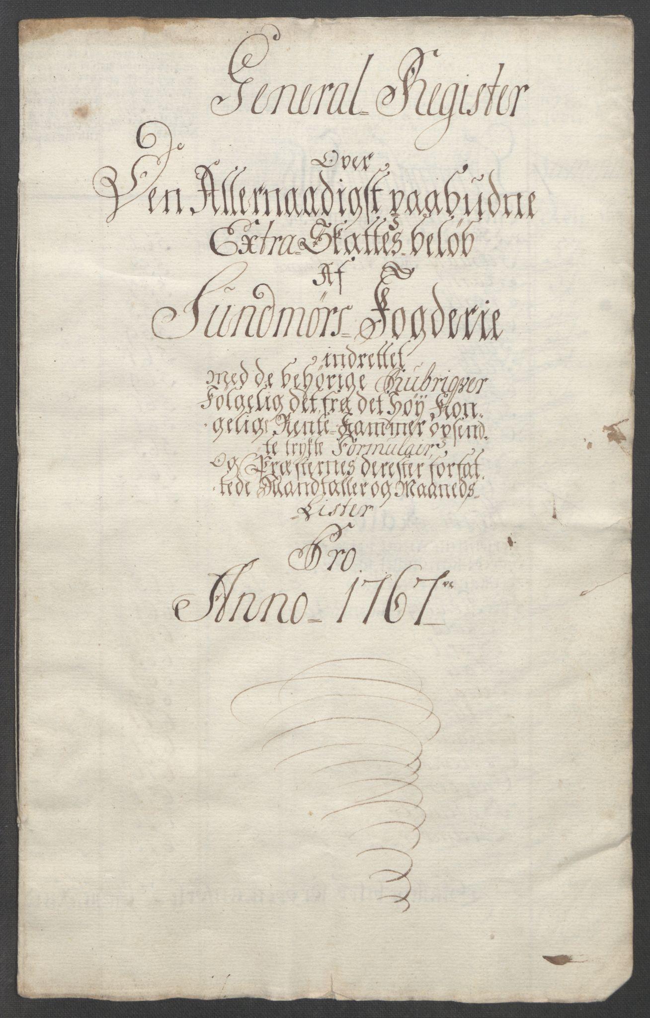 RA, Rentekammeret inntil 1814, Reviderte regnskaper, Fogderegnskap, R54/L3645: Ekstraskatten Sunnmøre, 1762-1772, s. 104