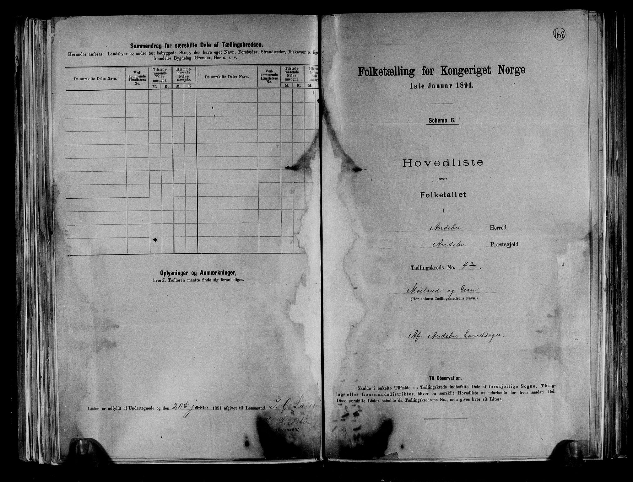 RA, Folketelling 1891 for 0719 Andebu herred, 1891, s. 18