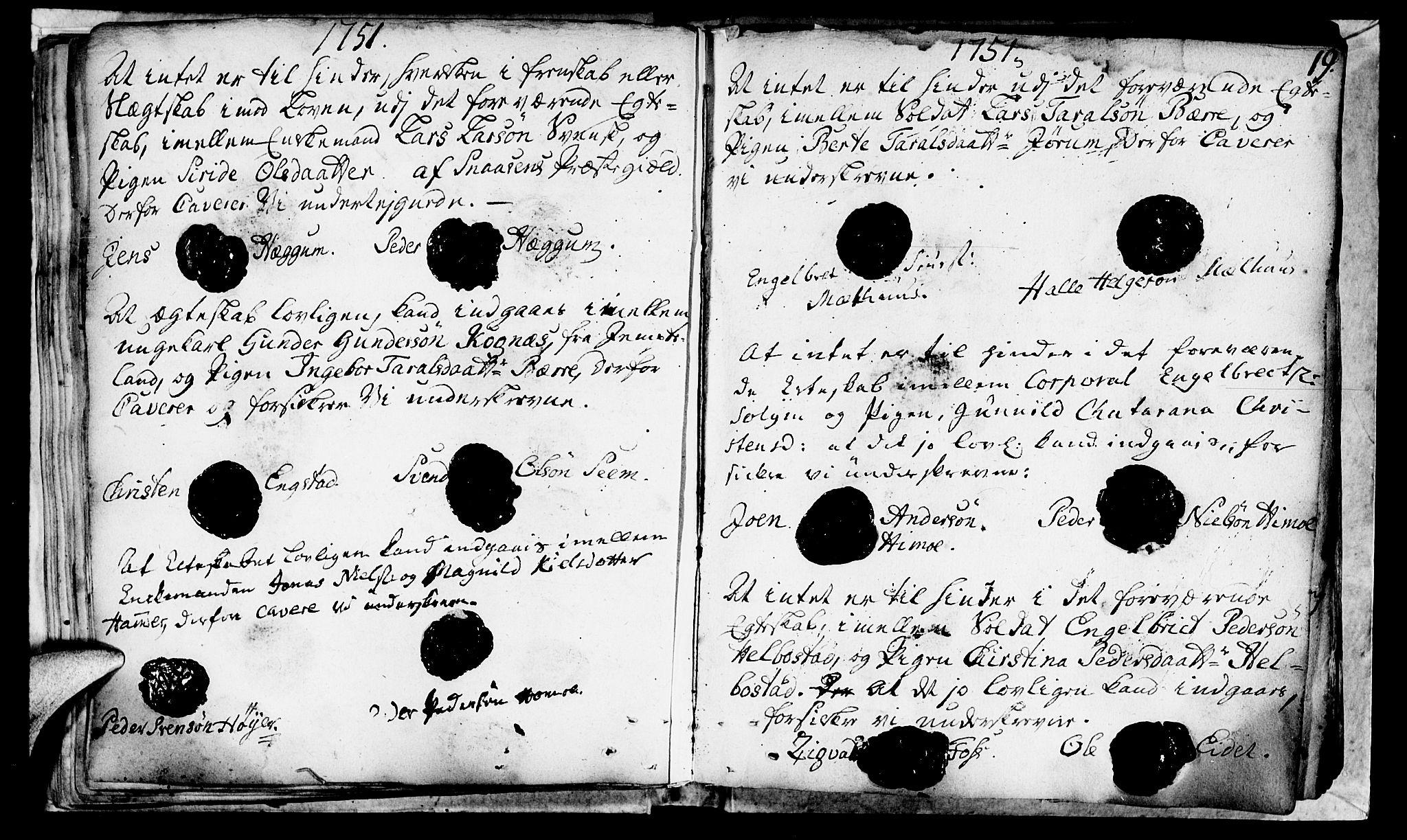 SAT, Ministerialprotokoller, klokkerbøker og fødselsregistre - Nord-Trøndelag, 764/L0541: Ministerialbok nr. 764A01, 1745-1758, s. 19