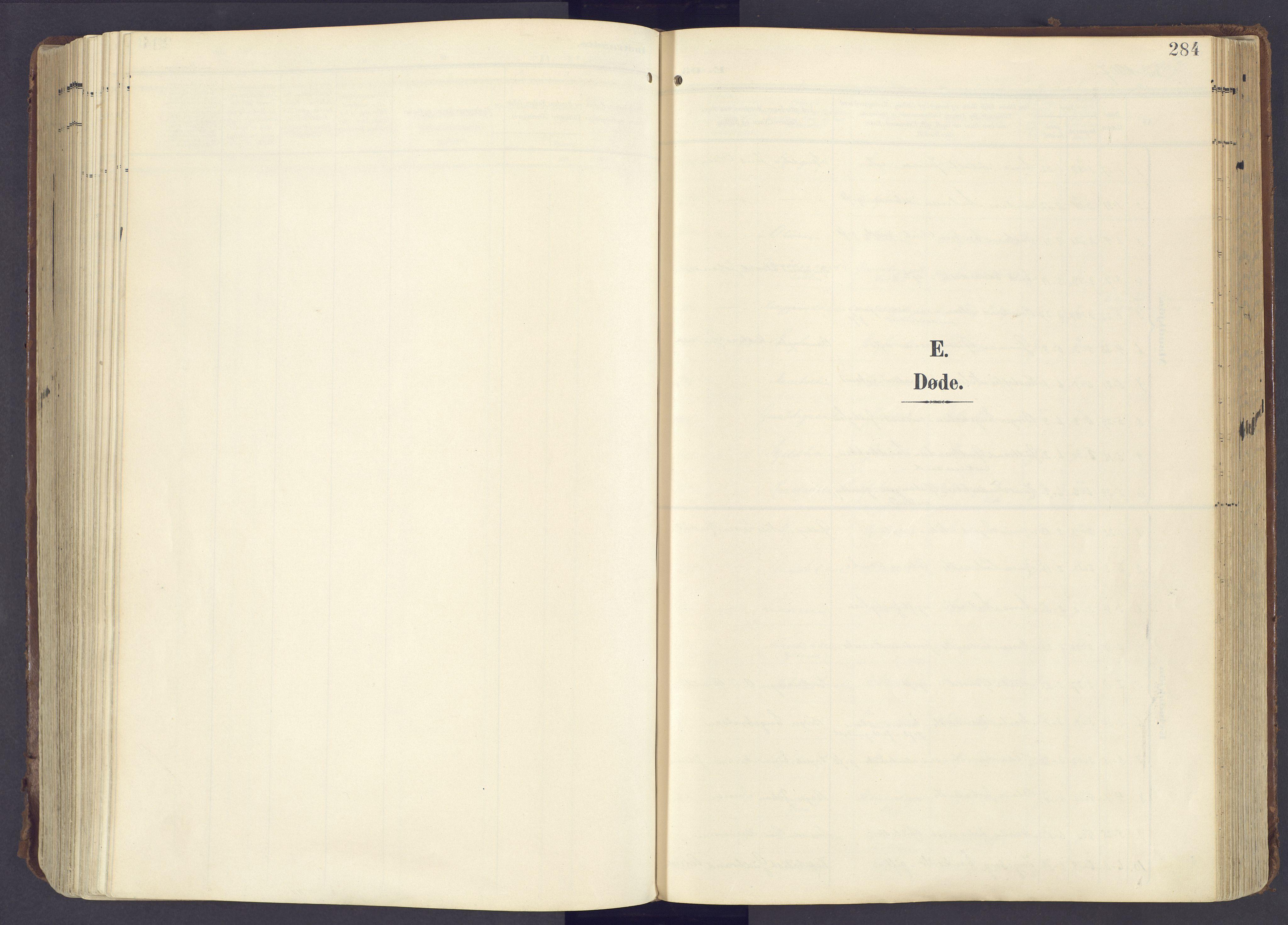 SAH, Lunner prestekontor, H/Ha/Haa/L0001: Ministerialbok nr. 1, 1907-1922, s. 284