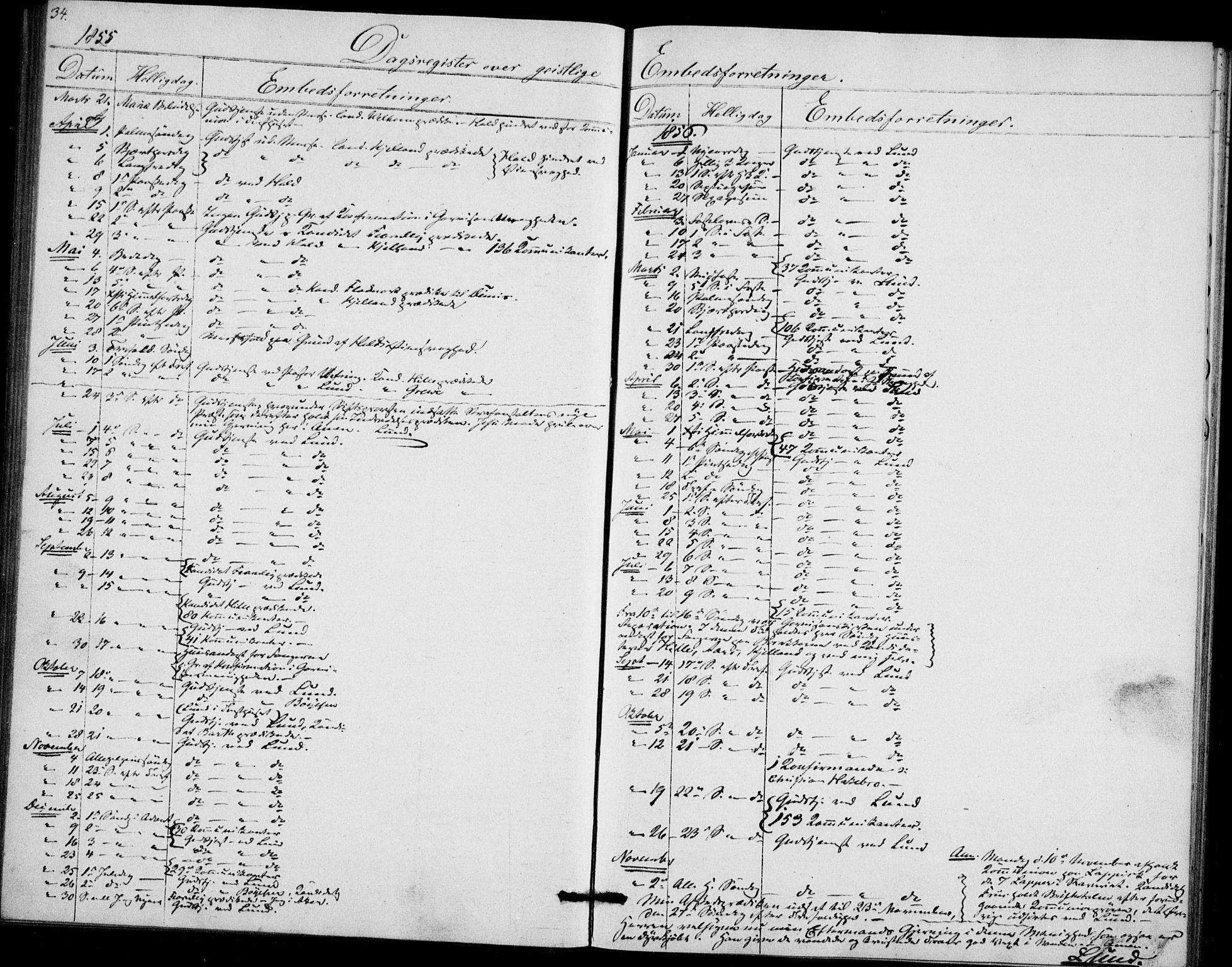 SAO, Akershus festnings slaveri Kirkebøker, F/Fa/L0002: Ministerialbok nr. 2, 1852-1883, s. 34