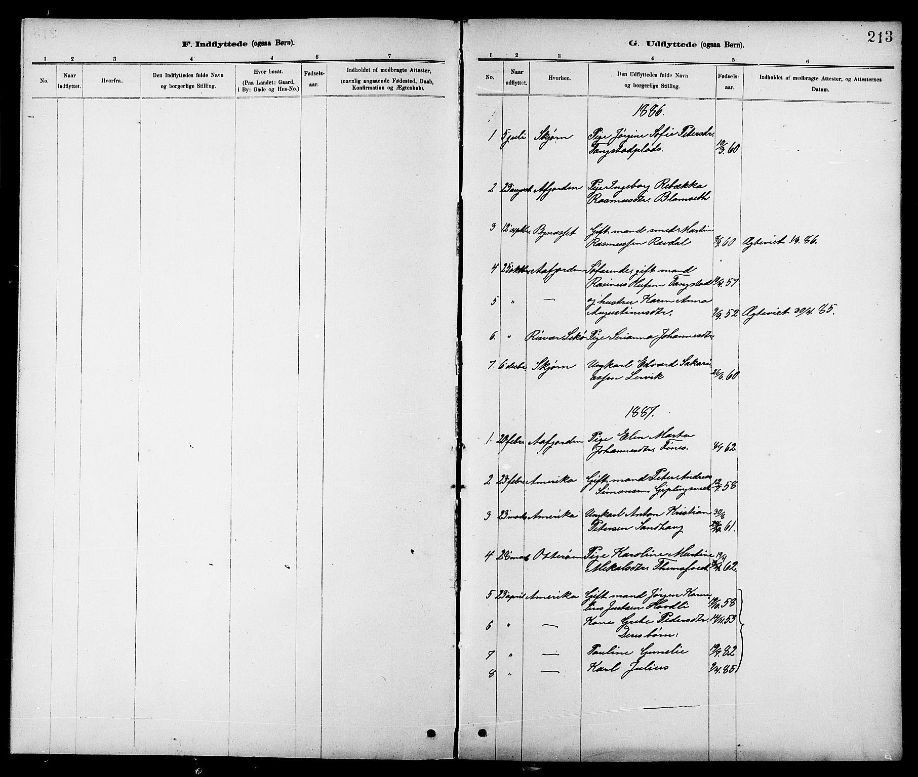 SAT, Ministerialprotokoller, klokkerbøker og fødselsregistre - Nord-Trøndelag, 744/L0423: Klokkerbok nr. 744C02, 1886-1905, s. 213