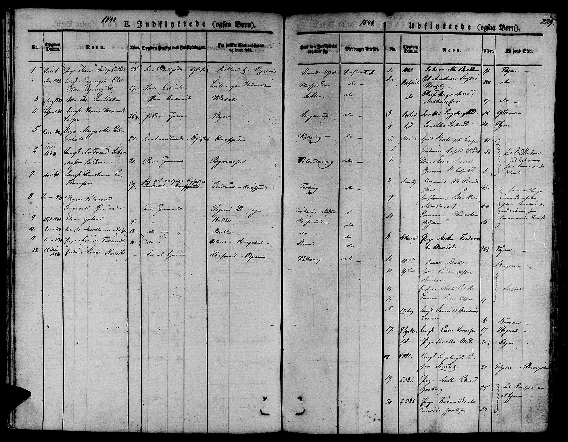 SAT, Ministerialprotokoller, klokkerbøker og fødselsregistre - Sør-Trøndelag, 657/L0703: Ministerialbok nr. 657A04, 1831-1846, s. 229