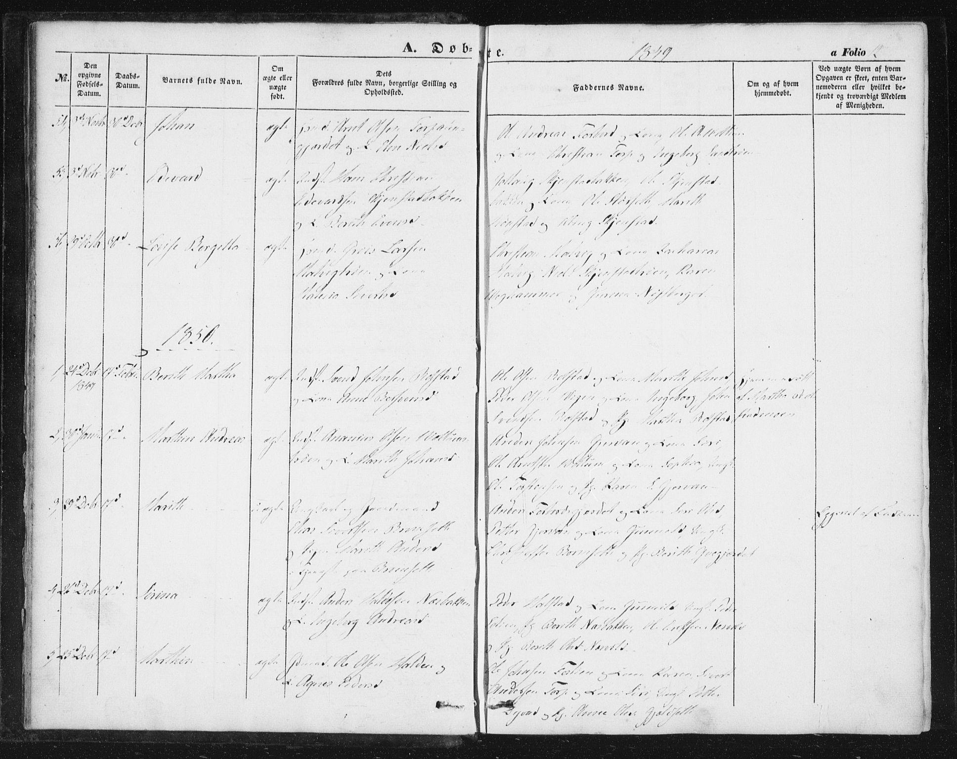 SAT, Ministerialprotokoller, klokkerbøker og fødselsregistre - Sør-Trøndelag, 616/L0407: Ministerialbok nr. 616A04, 1848-1856, s. 12