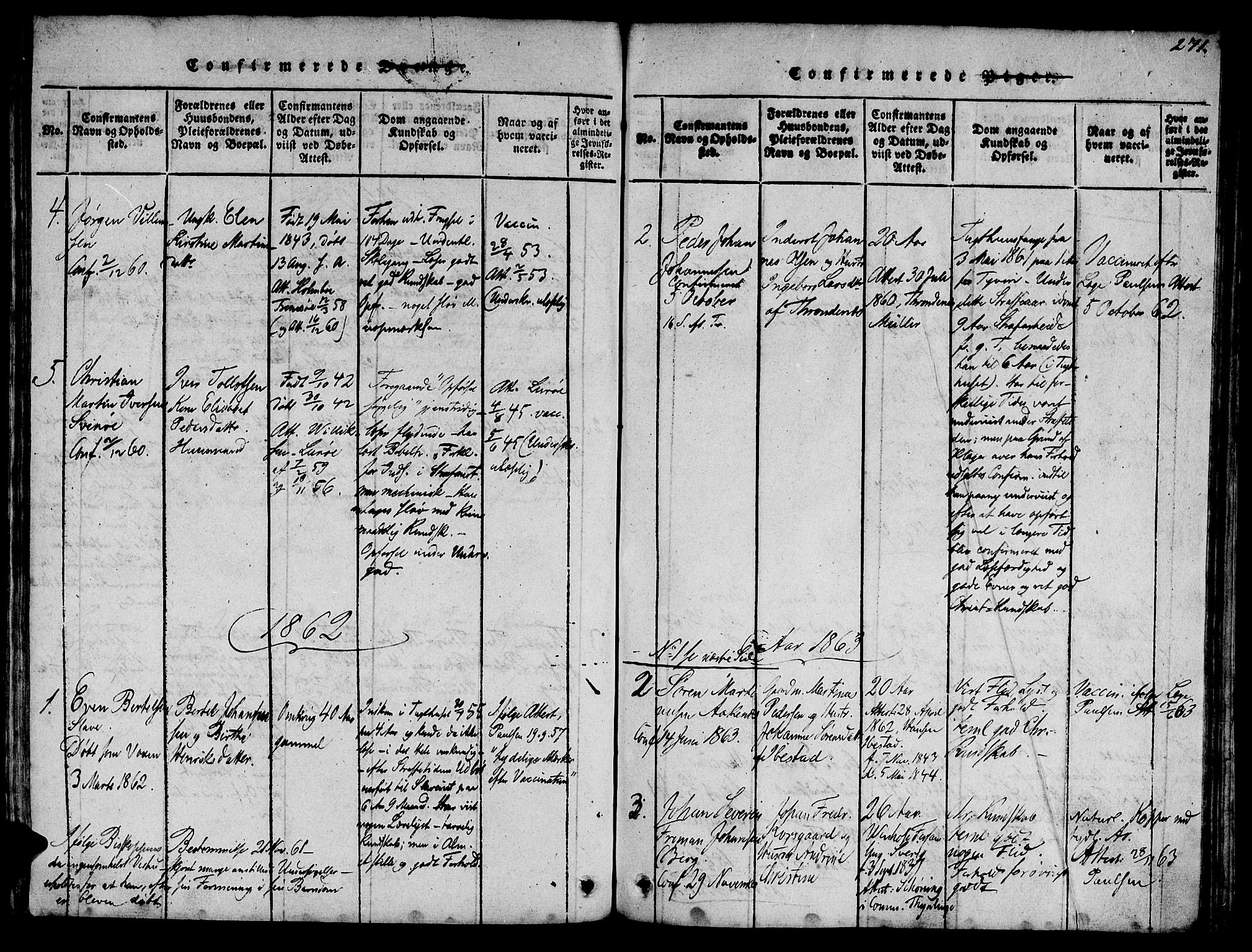 SAT, Ministerialprotokoller, klokkerbøker og fødselsregistre - Sør-Trøndelag, 623/L0478: Klokkerbok nr. 623C01, 1815-1873, s. 271