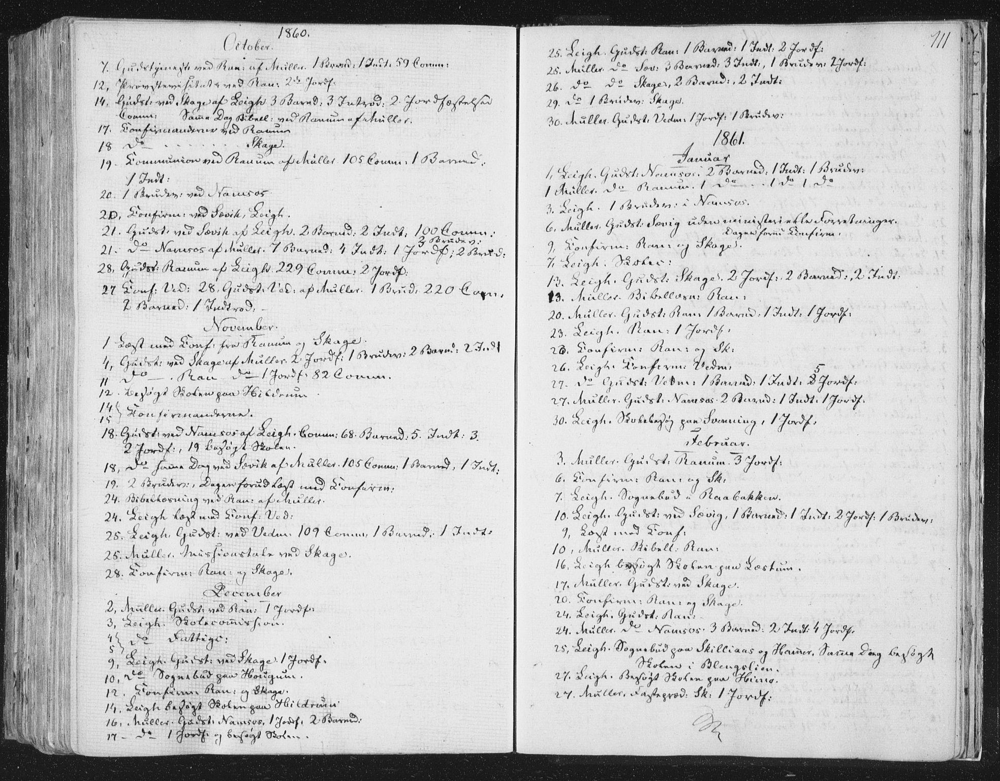 SAT, Ministerialprotokoller, klokkerbøker og fødselsregistre - Nord-Trøndelag, 764/L0552: Ministerialbok nr. 764A07b, 1824-1865, s. 711