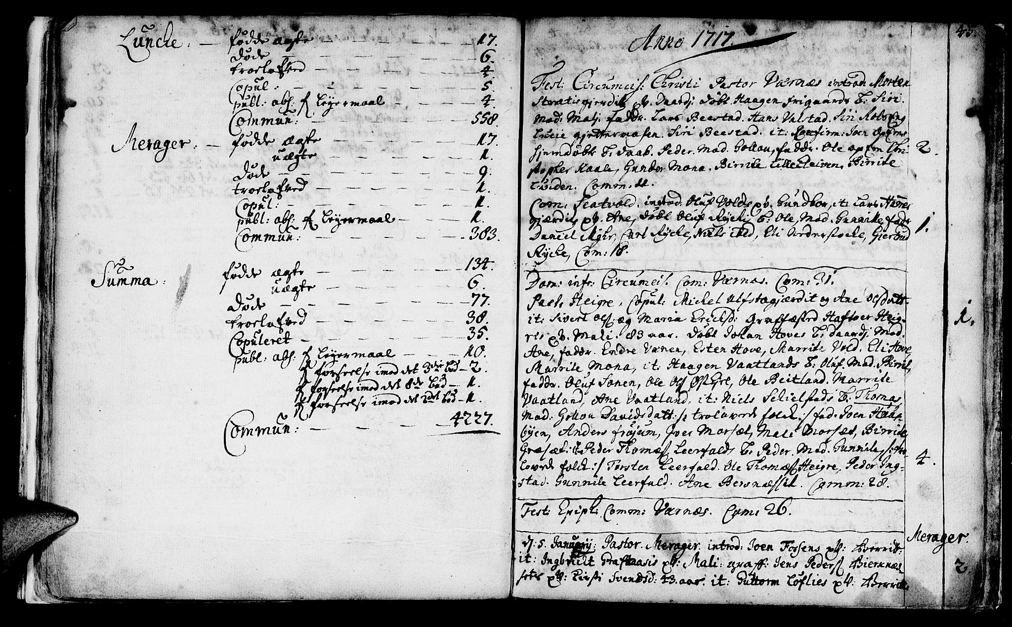 SAT, Ministerialprotokoller, klokkerbøker og fødselsregistre - Nord-Trøndelag, 709/L0054: Ministerialbok nr. 709A02, 1714-1738, s. 45
