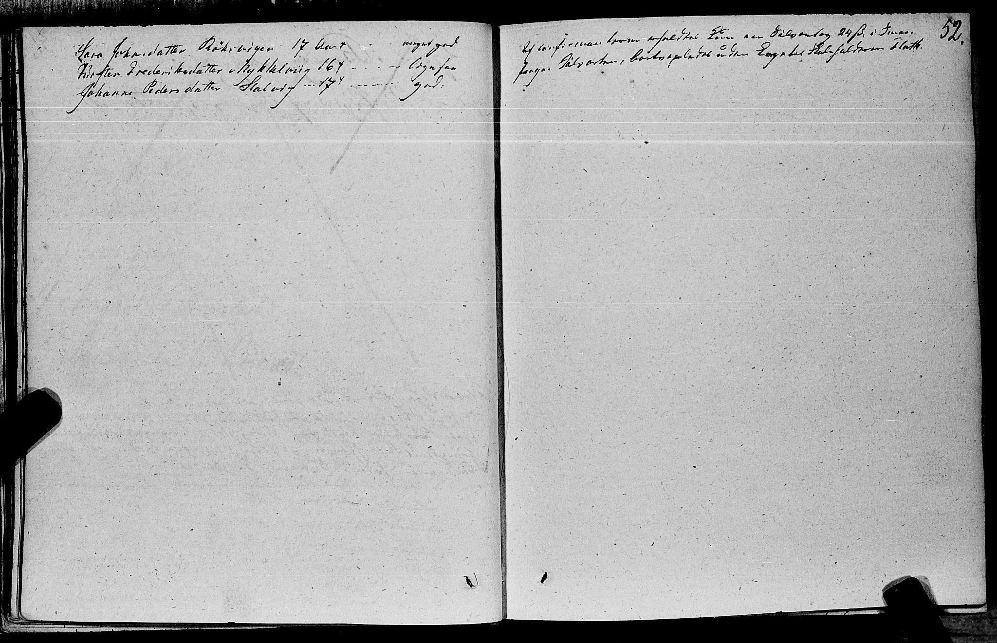 SAT, Ministerialprotokoller, klokkerbøker og fødselsregistre - Nord-Trøndelag, 762/L0538: Ministerialbok nr. 762A02 /1, 1833-1879, s. 52