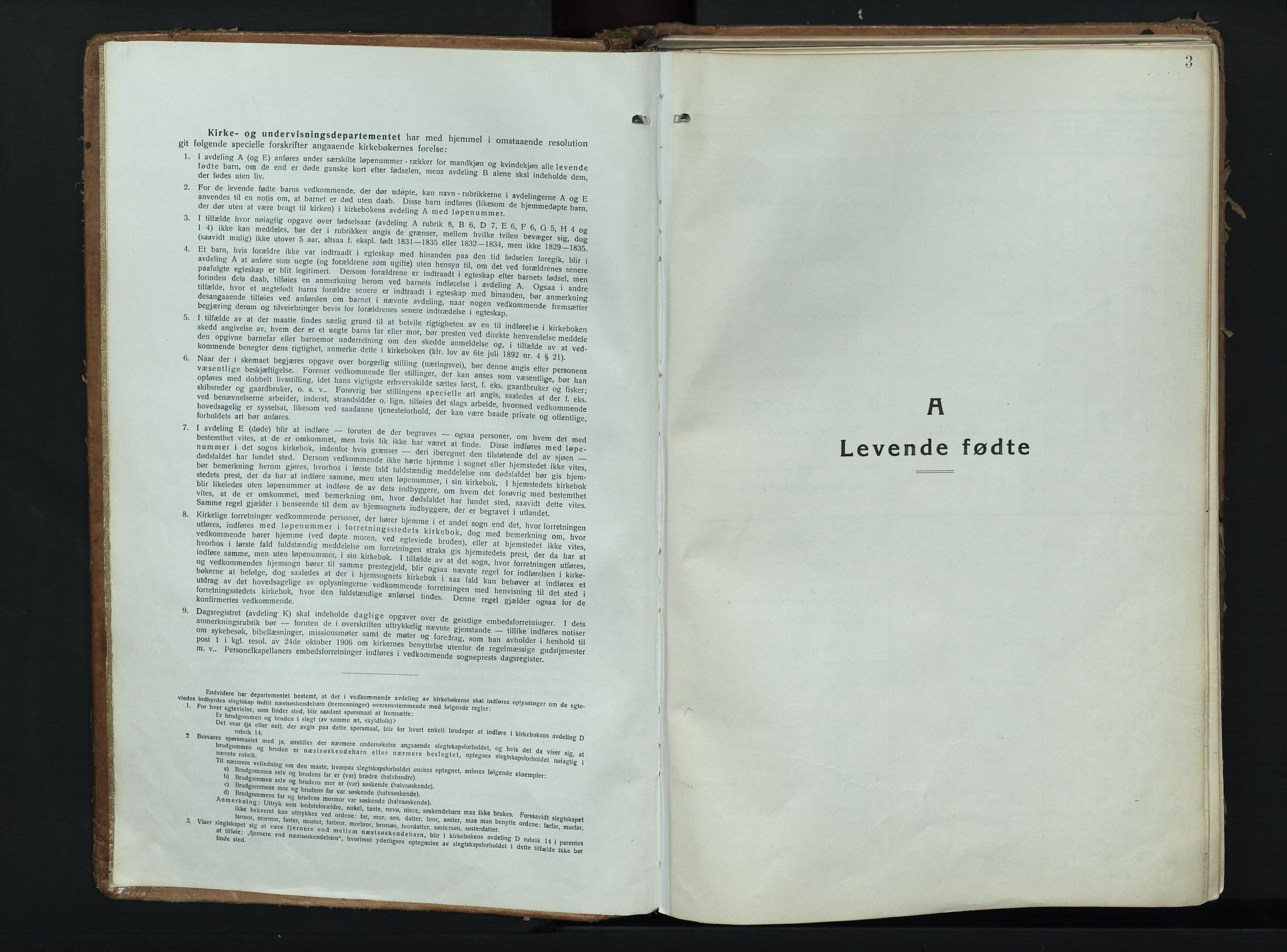 SAH, Alvdal prestekontor, Ministerialbok nr. 6, 1920-1937, s. 3
