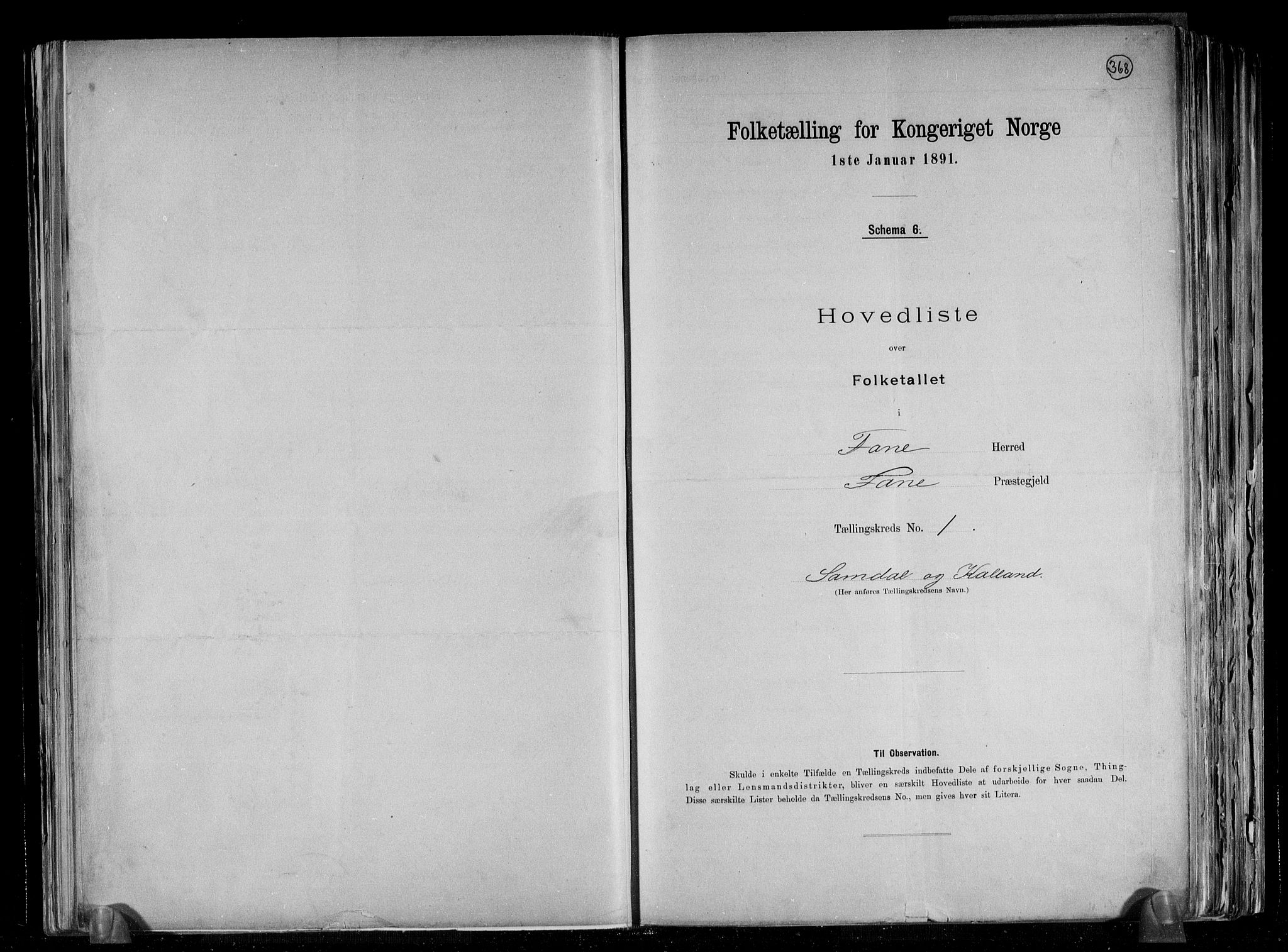 RA, Folketelling 1891 for 1249 Fana herred, 1891, s. 4