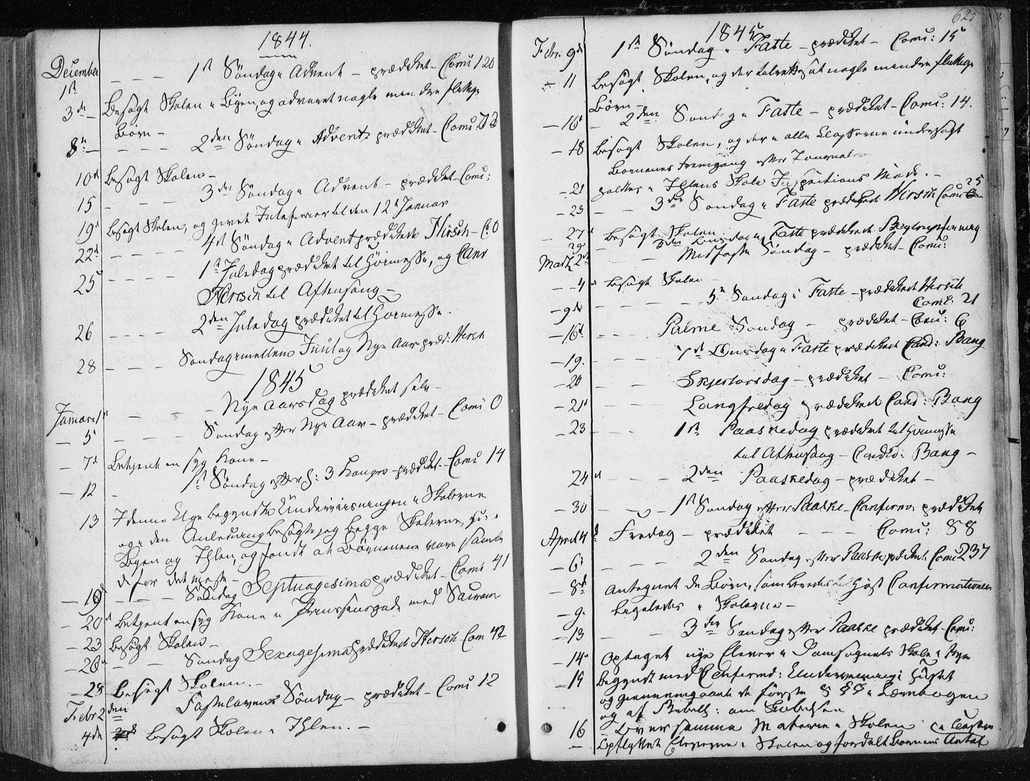 SAT, Ministerialprotokoller, klokkerbøker og fødselsregistre - Sør-Trøndelag, 601/L0049: Ministerialbok nr. 601A17, 1839-1847, s. 623