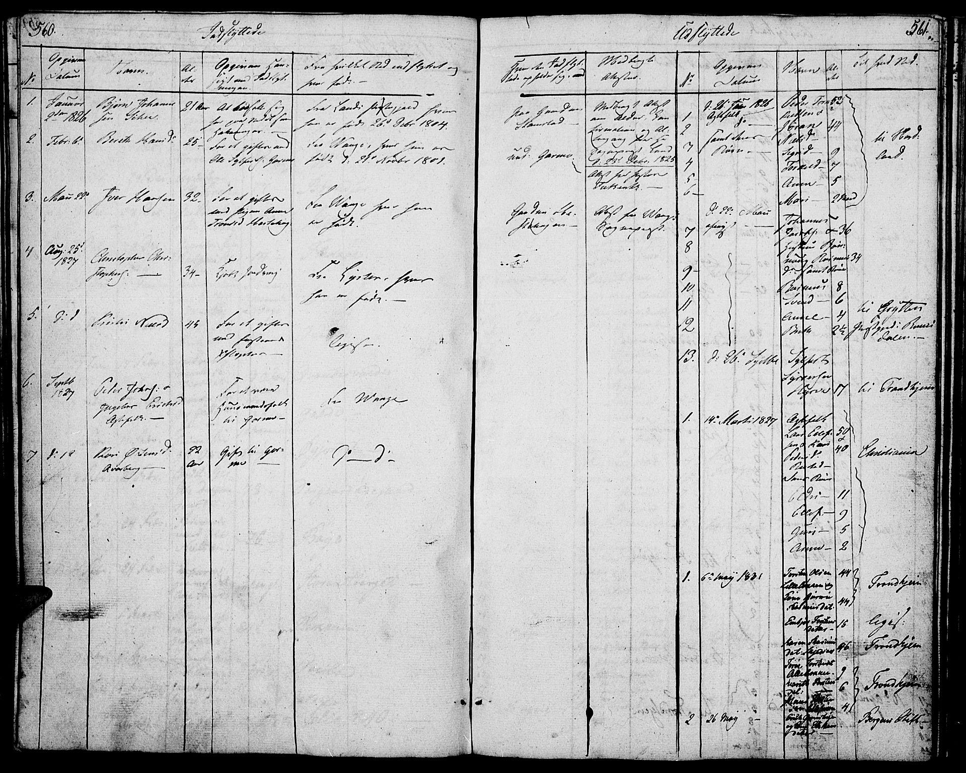 SAH, Lom prestekontor, K/L0005: Ministerialbok nr. 5, 1825-1837, s. 560-561