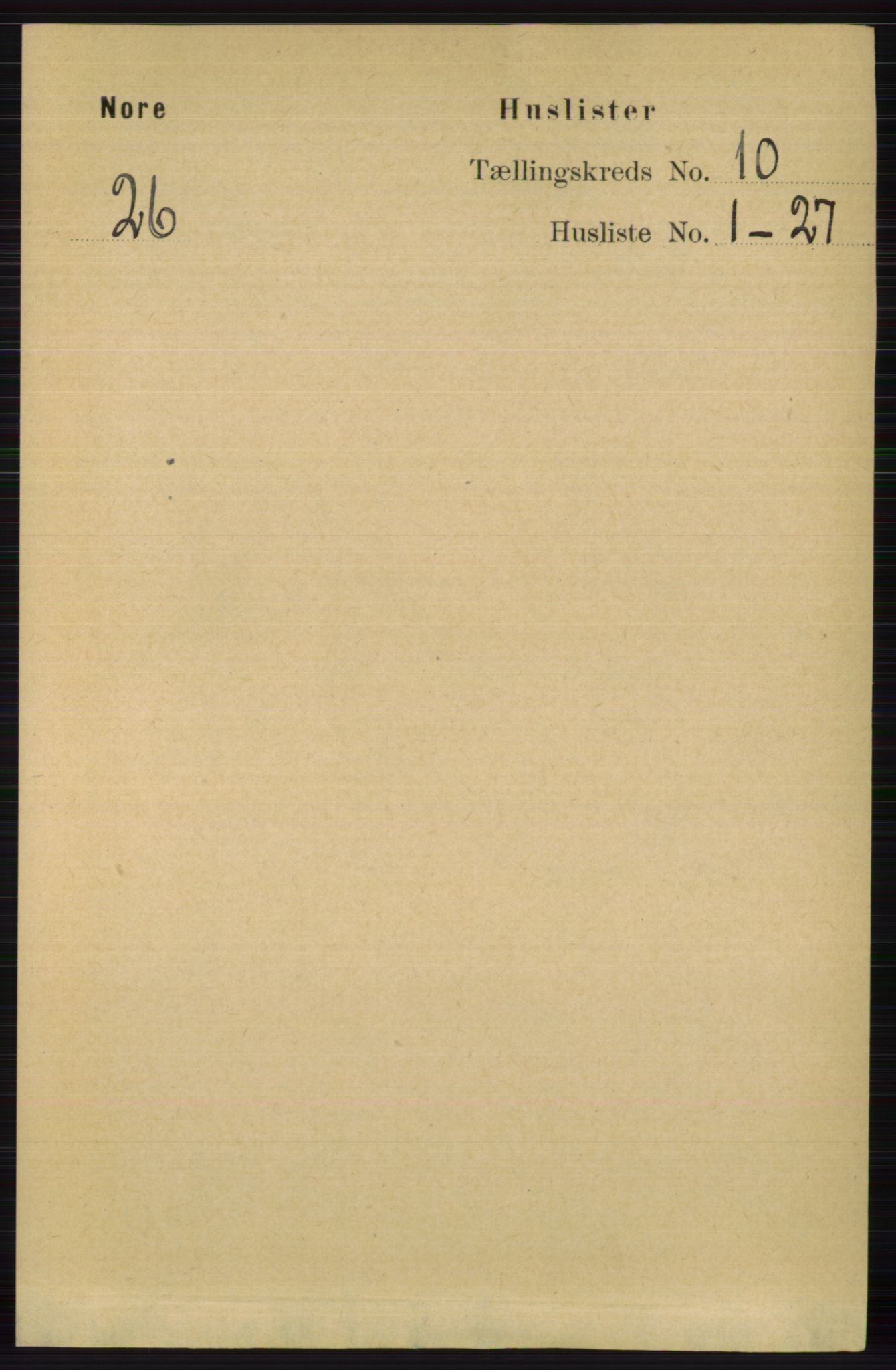 RA, Folketelling 1891 for 0633 Nore herred, 1891, s. 3514