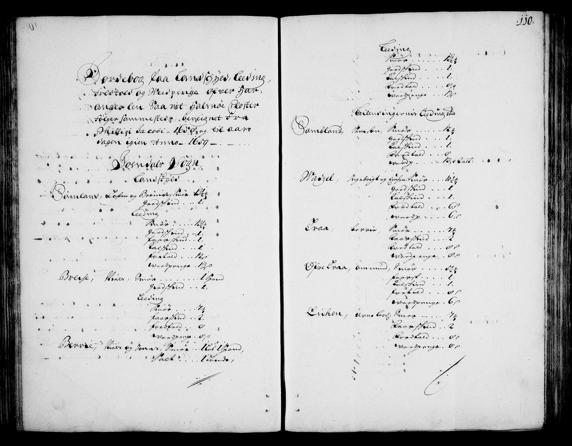 RA, Rentekammeret inntil 1814, Realistisk ordnet avdeling, On/L0002: [Jj 3]: Besiktigelsesforretninger over Halsnøy klosters gods, 1659-1703, s. 109b-110a