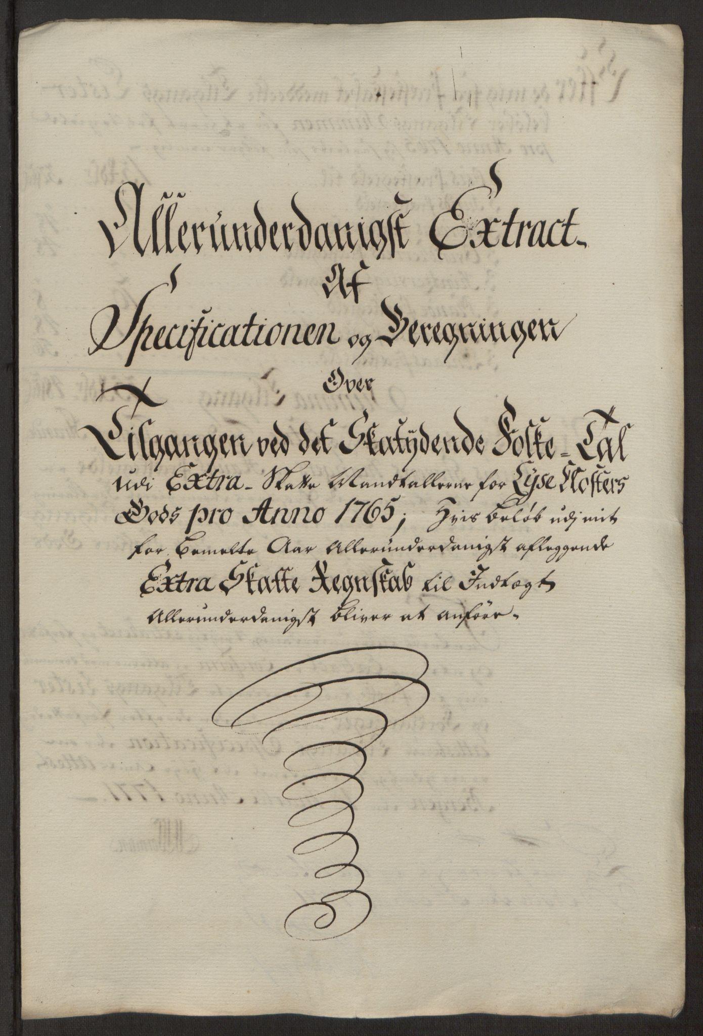 RA, Rentekammeret inntil 1814, Reviderte regnskaper, Fogderegnskap, R50/L3180: Ekstraskatten Lyse kloster, 1762-1783, s. 140