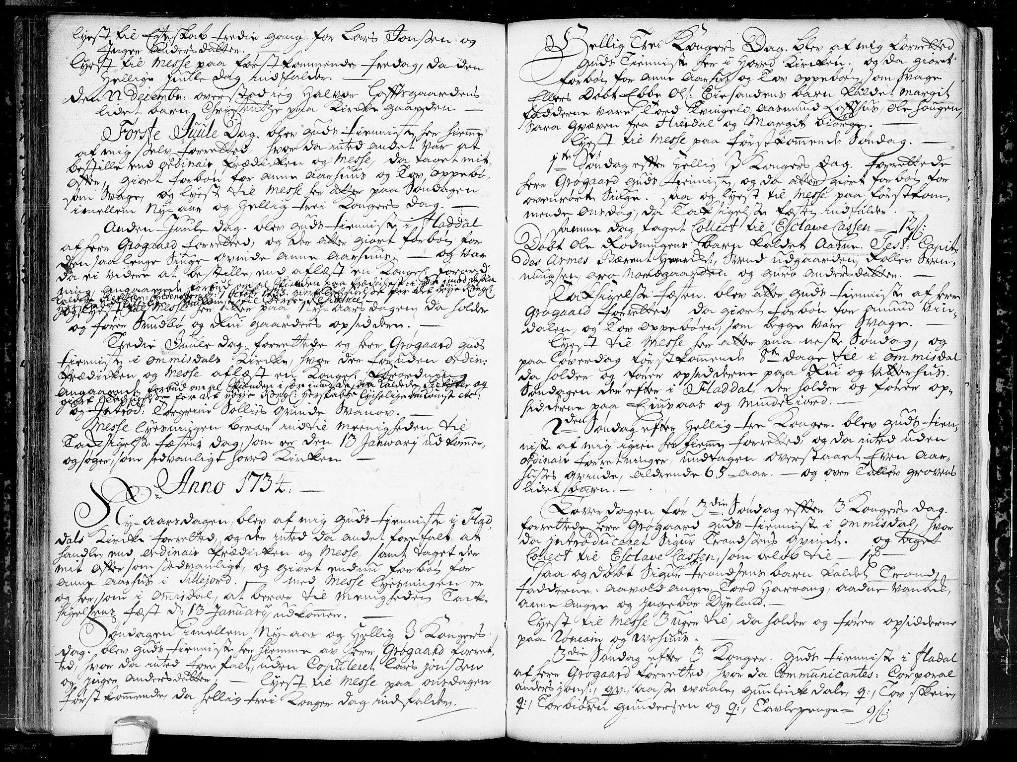 SAKO, Seljord kirkebøker, F/Fa/L0004: Ministerialbok nr. I 4, 1725-1736