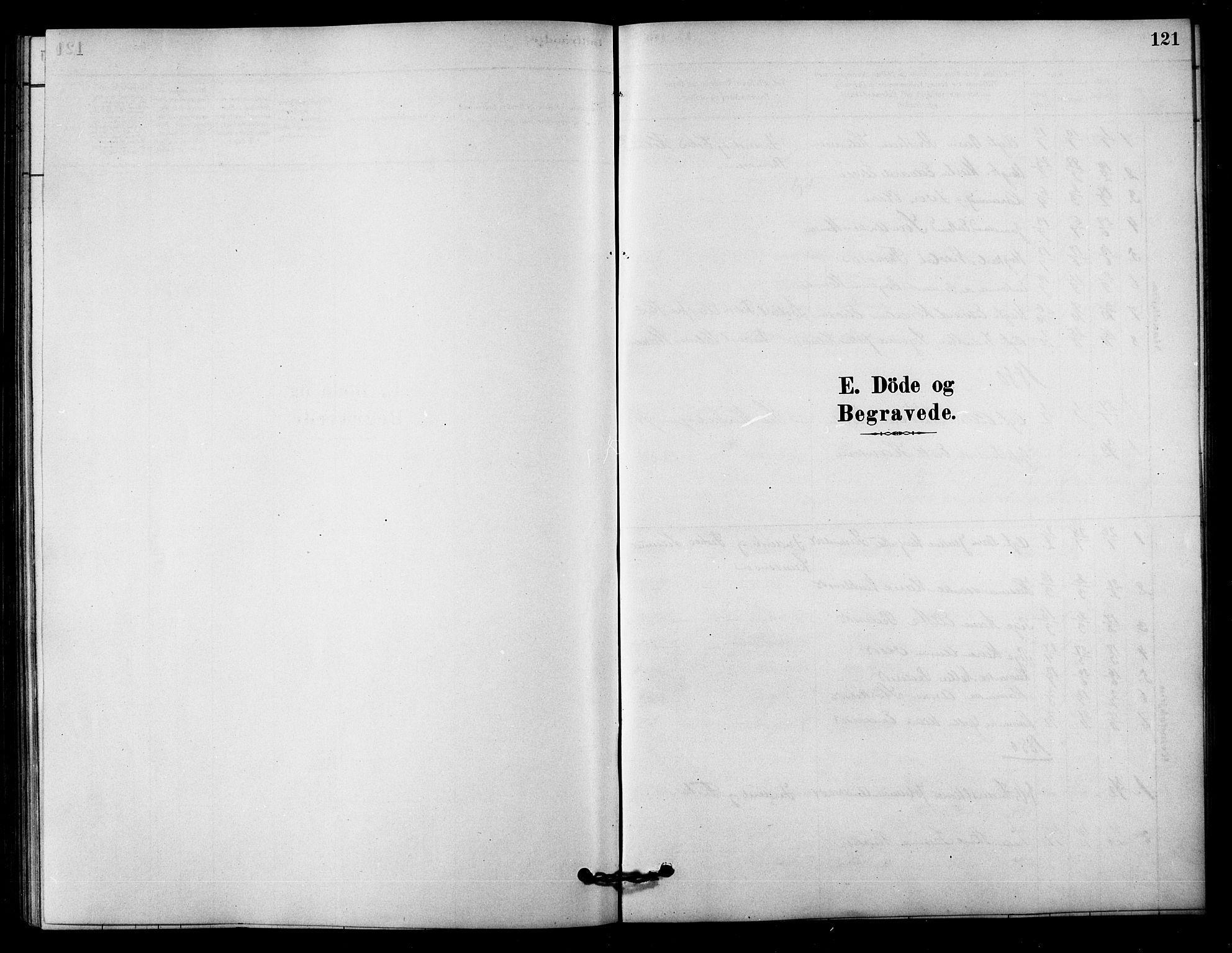 SAT, Ministerialprotokoller, klokkerbøker og fødselsregistre - Sør-Trøndelag, 656/L0692: Ministerialbok nr. 656A01, 1879-1893, s. 121