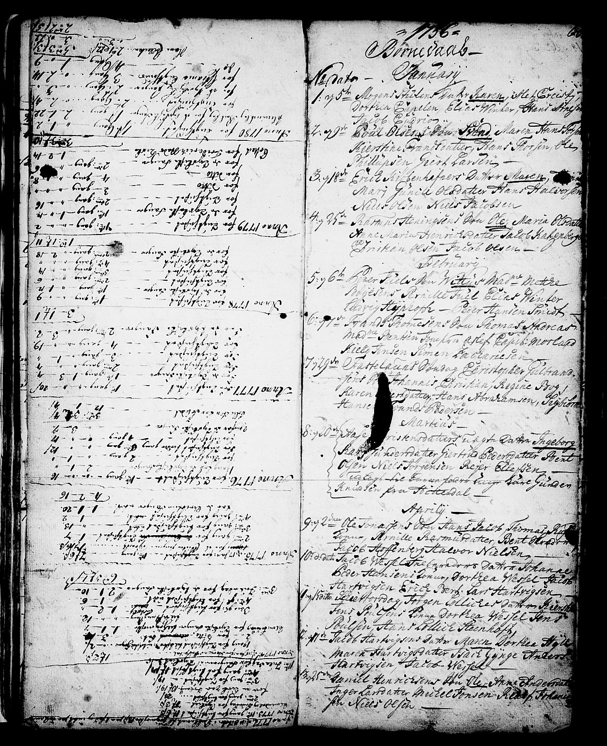 SAKO, Skien kirkebøker, G/Ga/L0001: Klokkerbok nr. 1, 1756-1791, s. 60