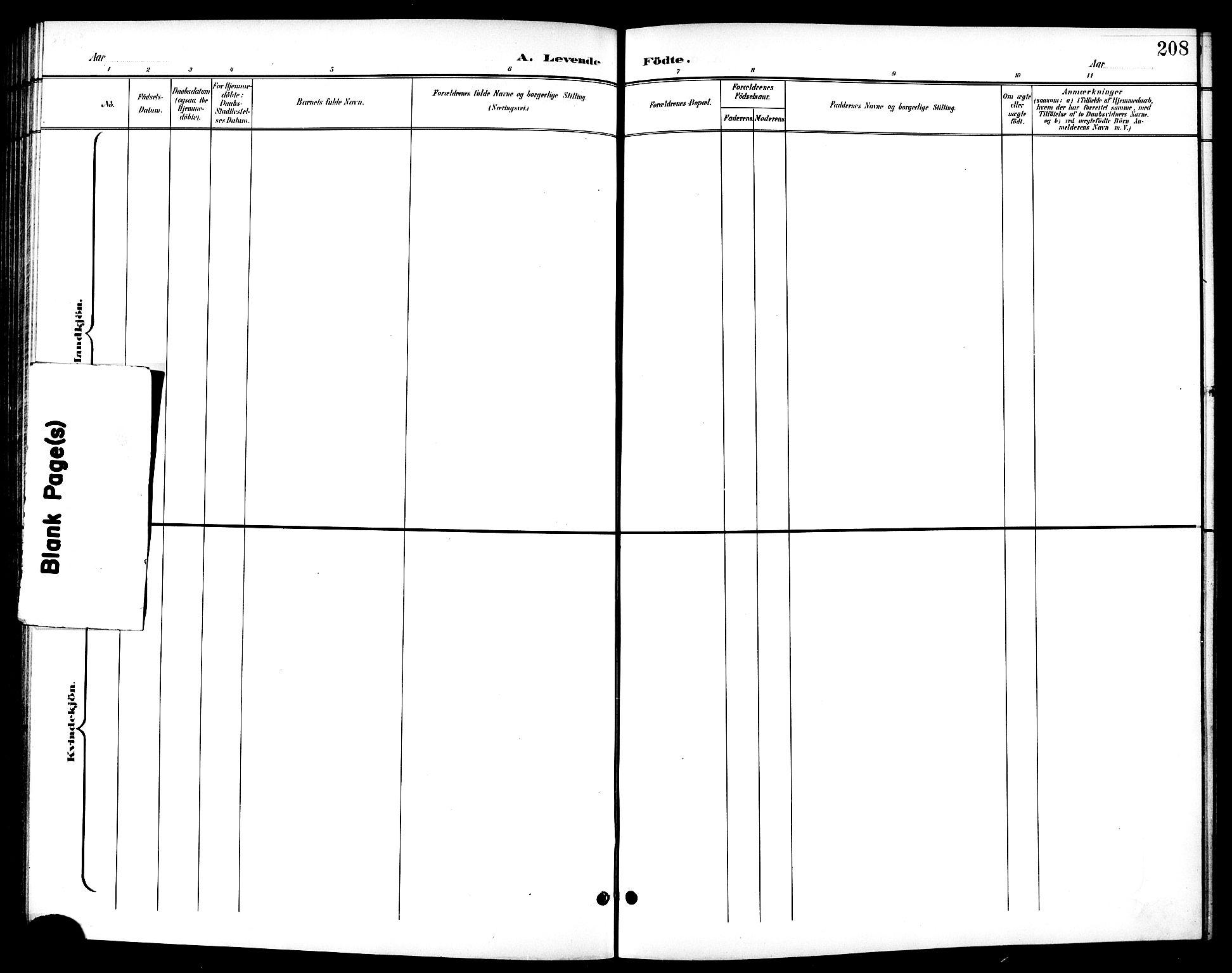 SAT, Ministerialprotokoller, klokkerbøker og fødselsregistre - Sør-Trøndelag, 601/L0094: Klokkerbok nr. 601C12, 1898-1911, s. 208