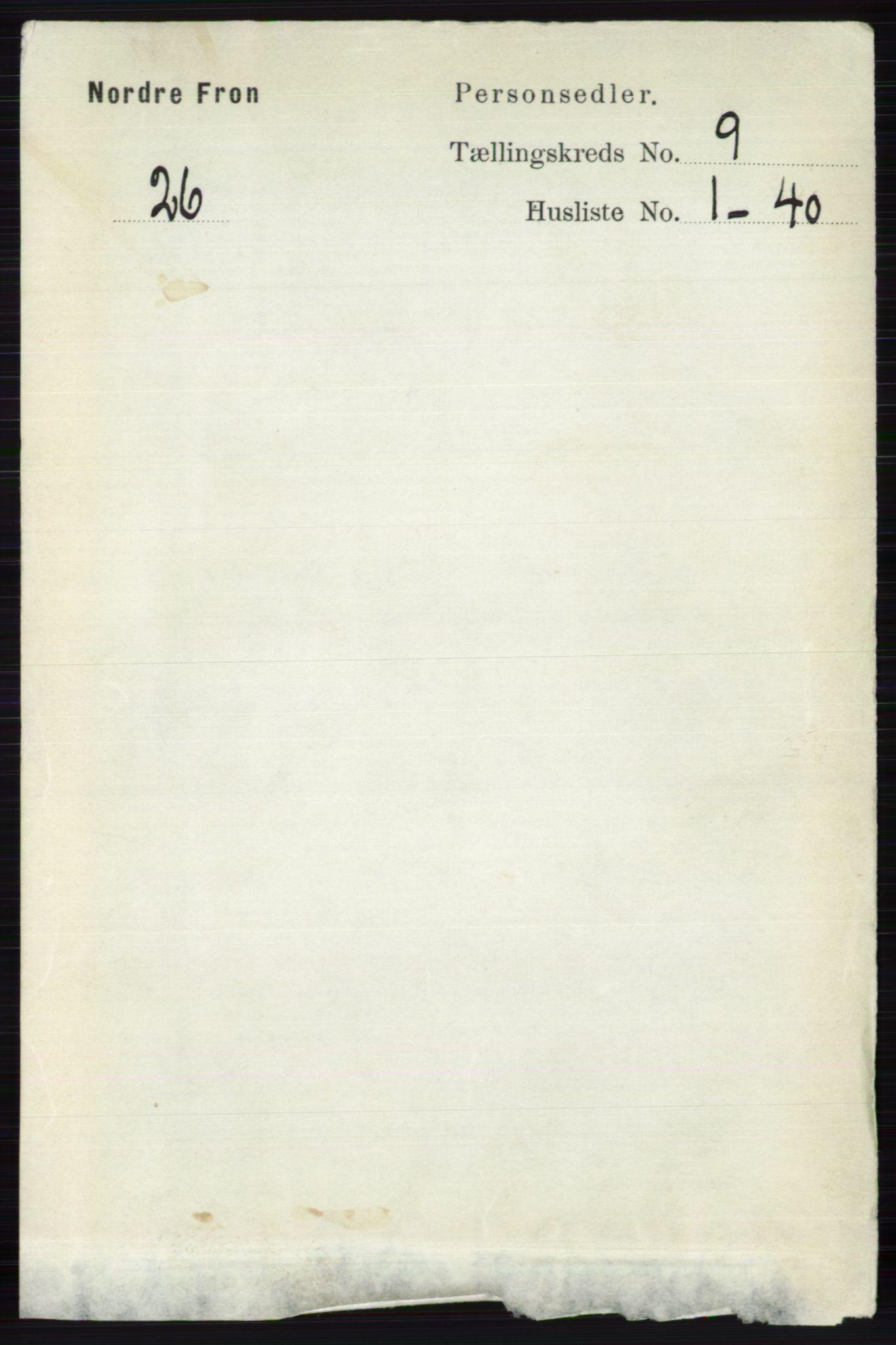 RA, Folketelling 1891 for 0518 Nord-Fron herred, 1891, s. 3713