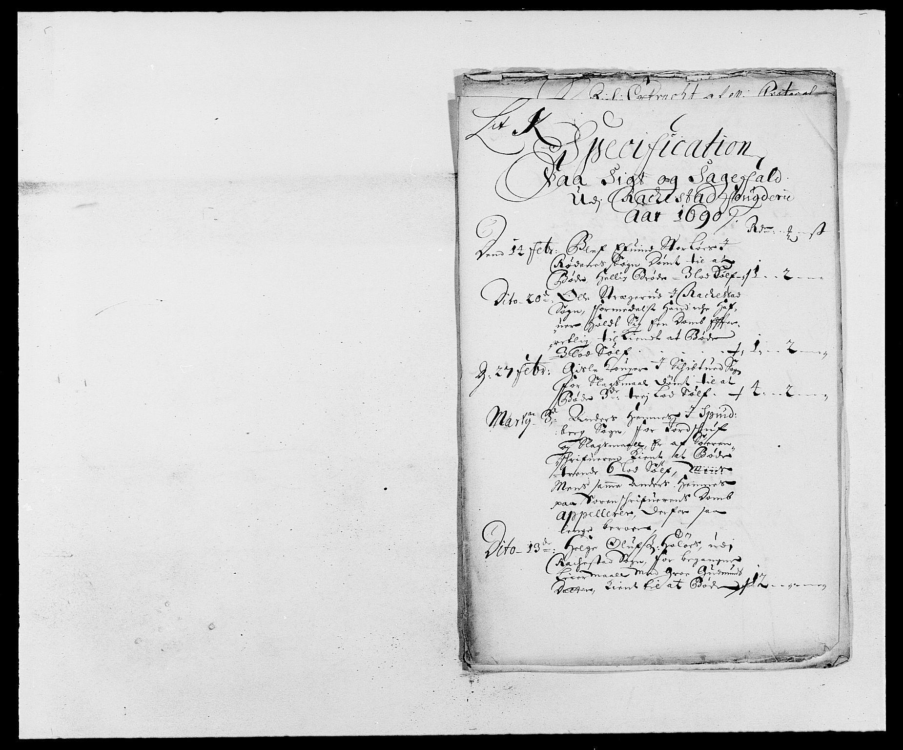 RA, Rentekammeret inntil 1814, Reviderte regnskaper, Fogderegnskap, R05/L0277: Fogderegnskap Rakkestad, 1689-1690, s. 190