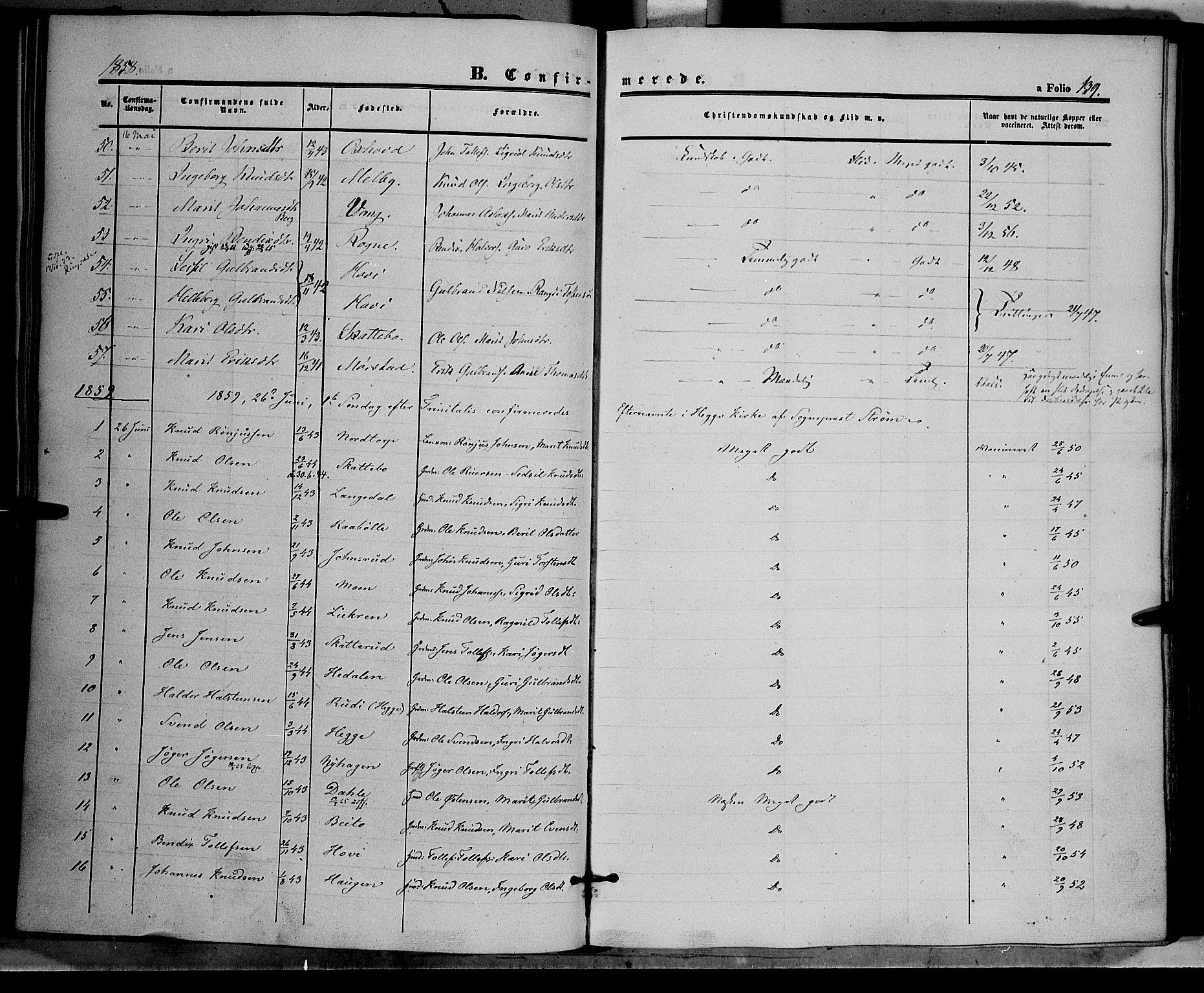 SAH, Øystre Slidre prestekontor, Ministerialbok nr. 1, 1849-1874, s. 139