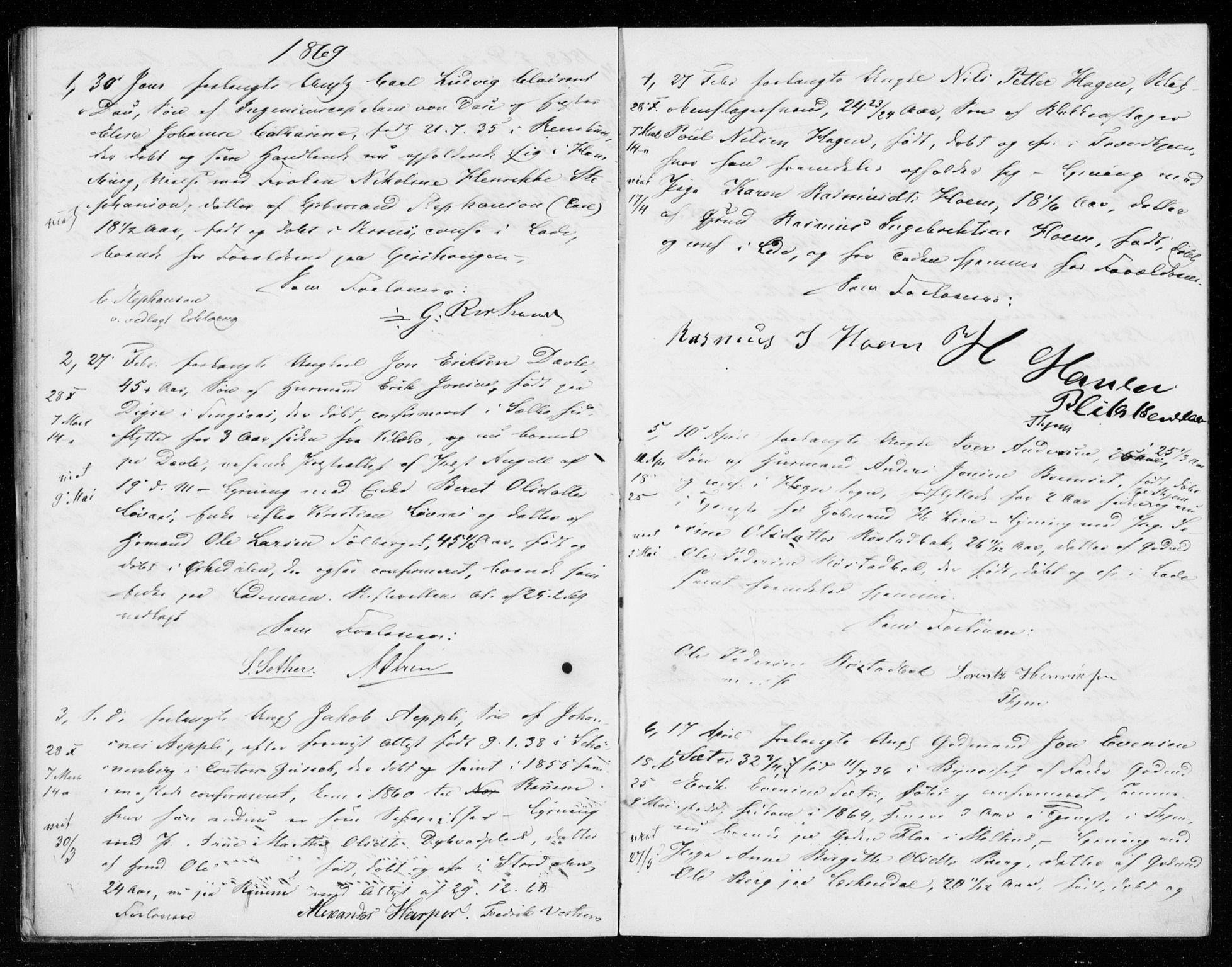 SAT, Ministerialprotokoller, klokkerbøker og fødselsregistre - Sør-Trøndelag, 606/L0298: Lysningsprotokoll nr. 606A13, 1861-1872
