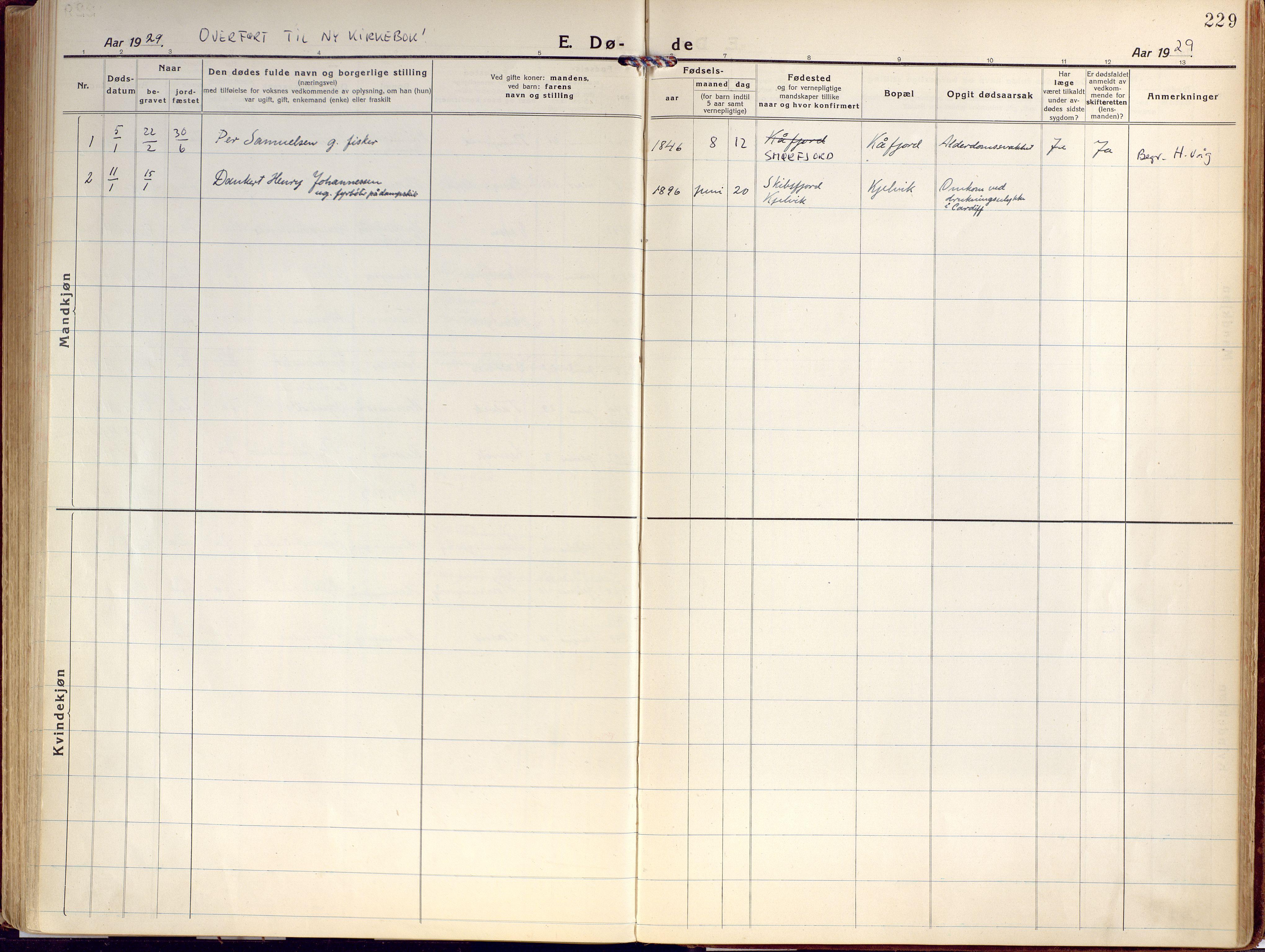 SATØ, Kjelvik/Nordkapp sokneprestkontor, H/Ha/L0002kirke: Ministerialbok nr. 2, 1920-1929, s. 229