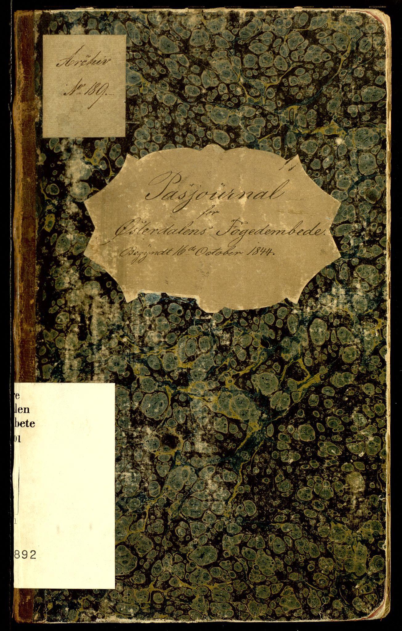SAH, Søndre Østerdalen fogderi, L/La/L0001: Passjournal, 1844-1900