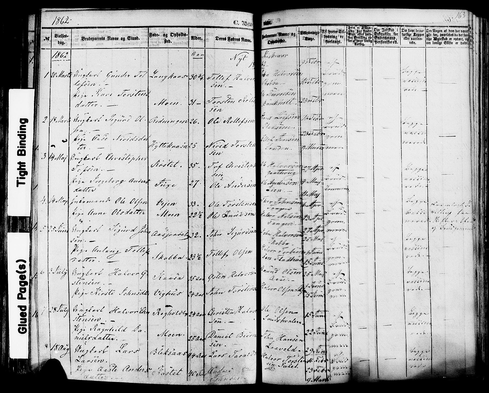 SAKO, Sauherad kirkebøker, F/Fa/L0007: Ministerialbok nr. I 7, 1851-1873, s. 163