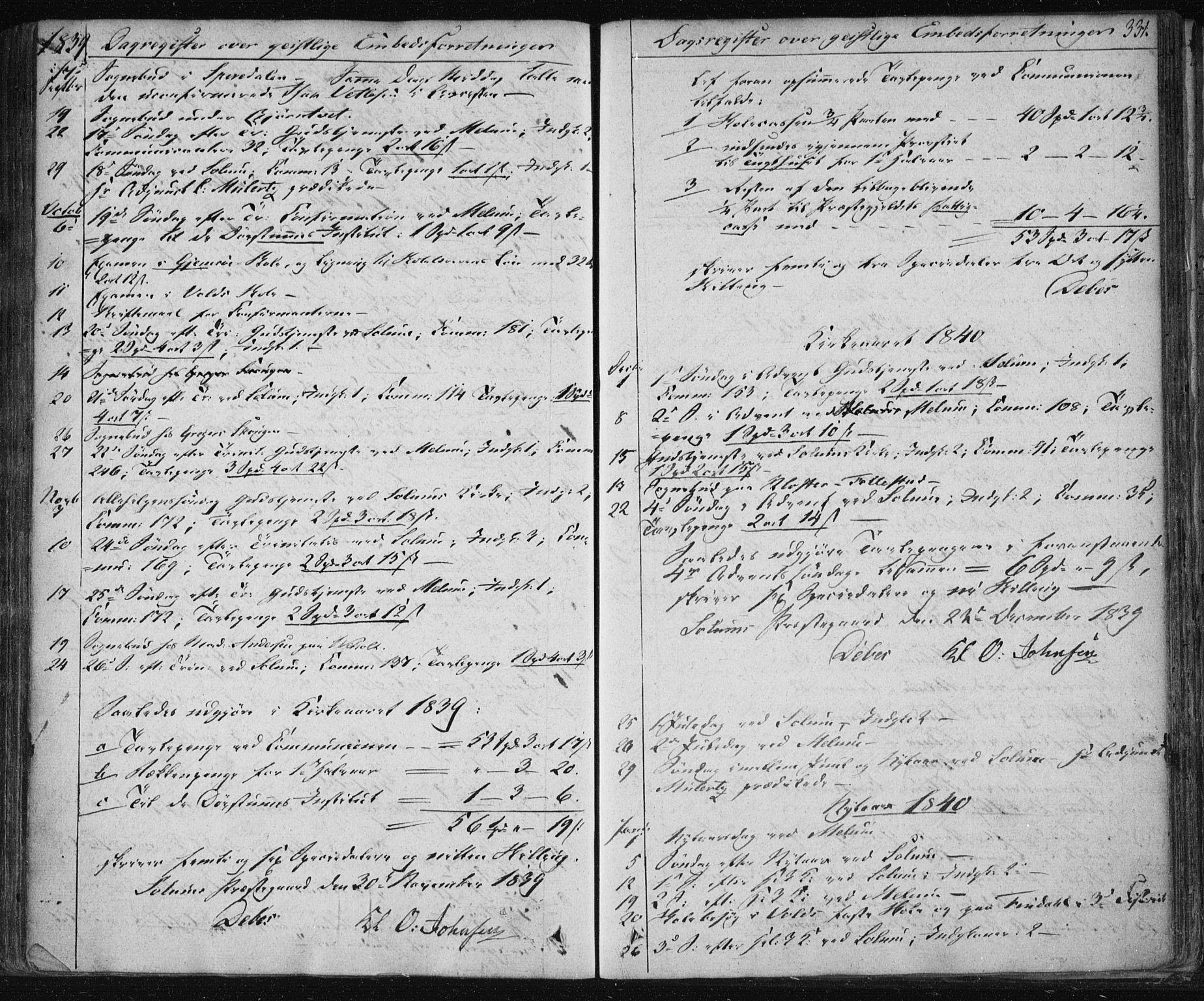 SAKO, Solum kirkebøker, F/Fa/L0005: Ministerialbok nr. I 5, 1833-1843, s. 331