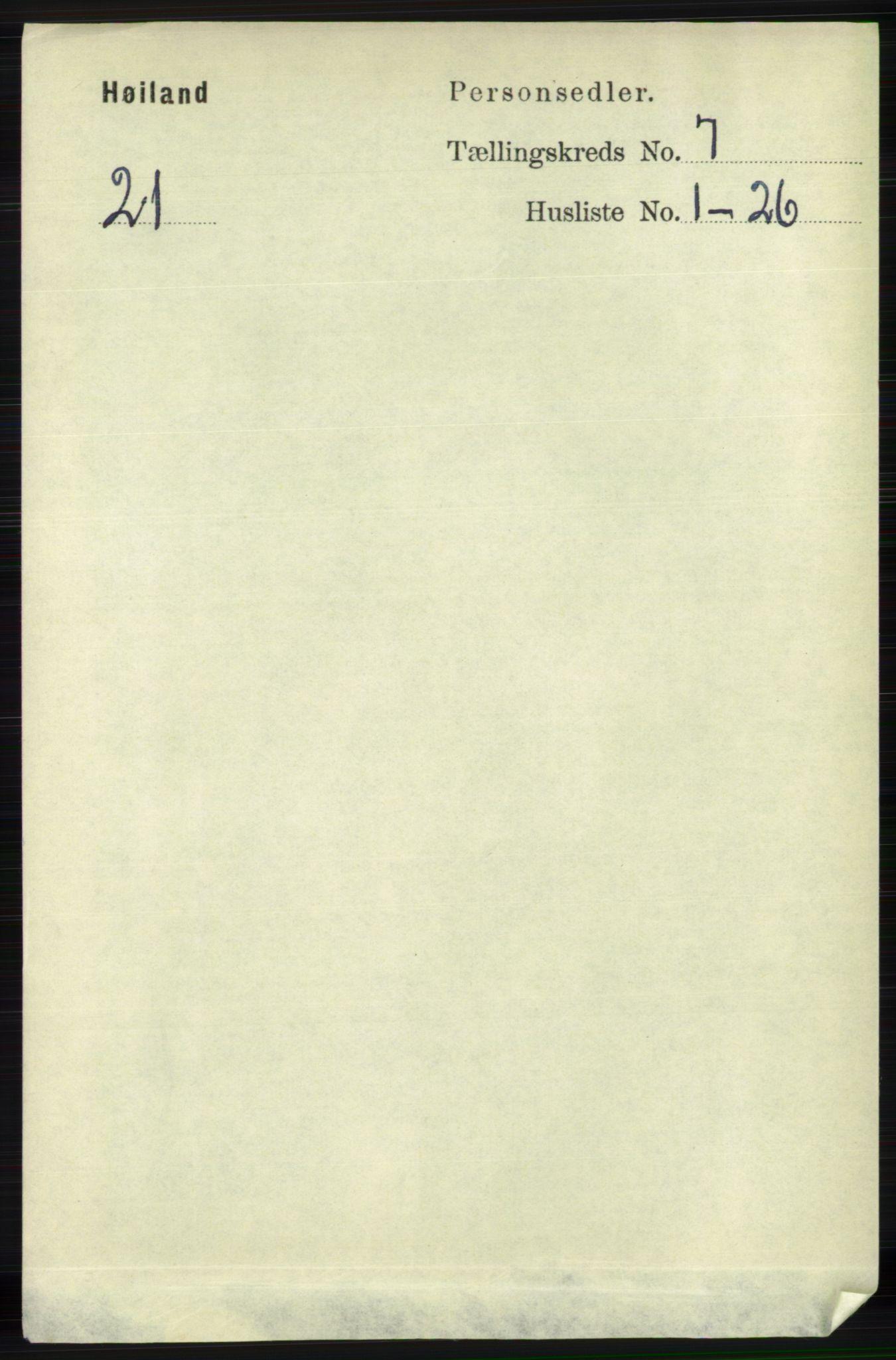 RA, Folketelling 1891 for 1123 Høyland herred, 1891, s. 2392