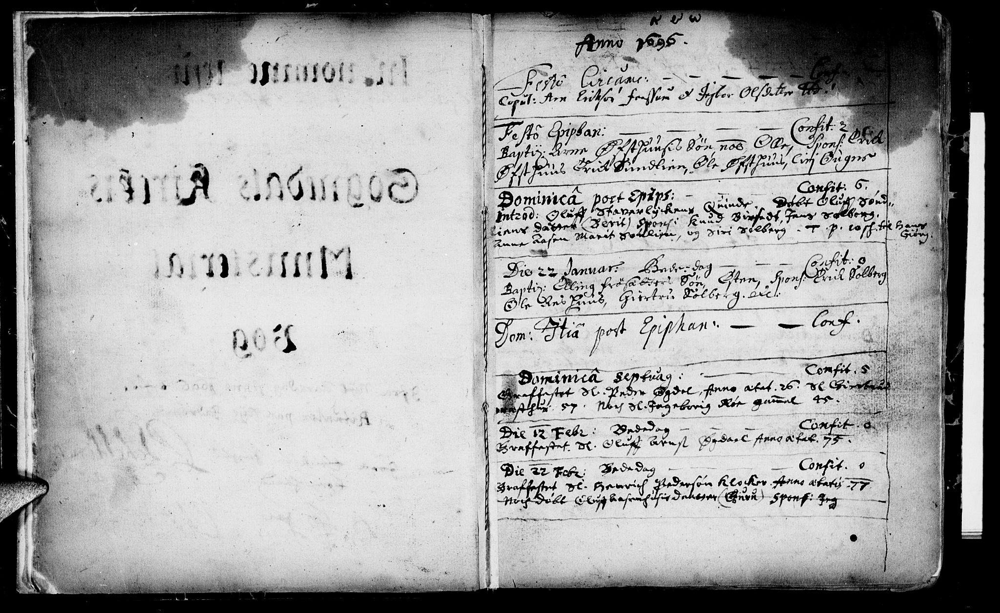 SAT, Ministerialprotokoller, klokkerbøker og fødselsregistre - Sør-Trøndelag, 689/L1036: Ministerialbok nr. 689A01, 1696-1746, s. 3