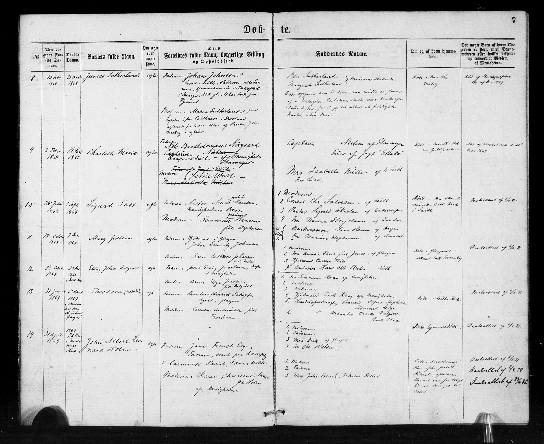 SAB, Den Norske Sjømannsmisjon i utlandet*, Ministerialbok nr. A 1, 1865-1880, s. 7