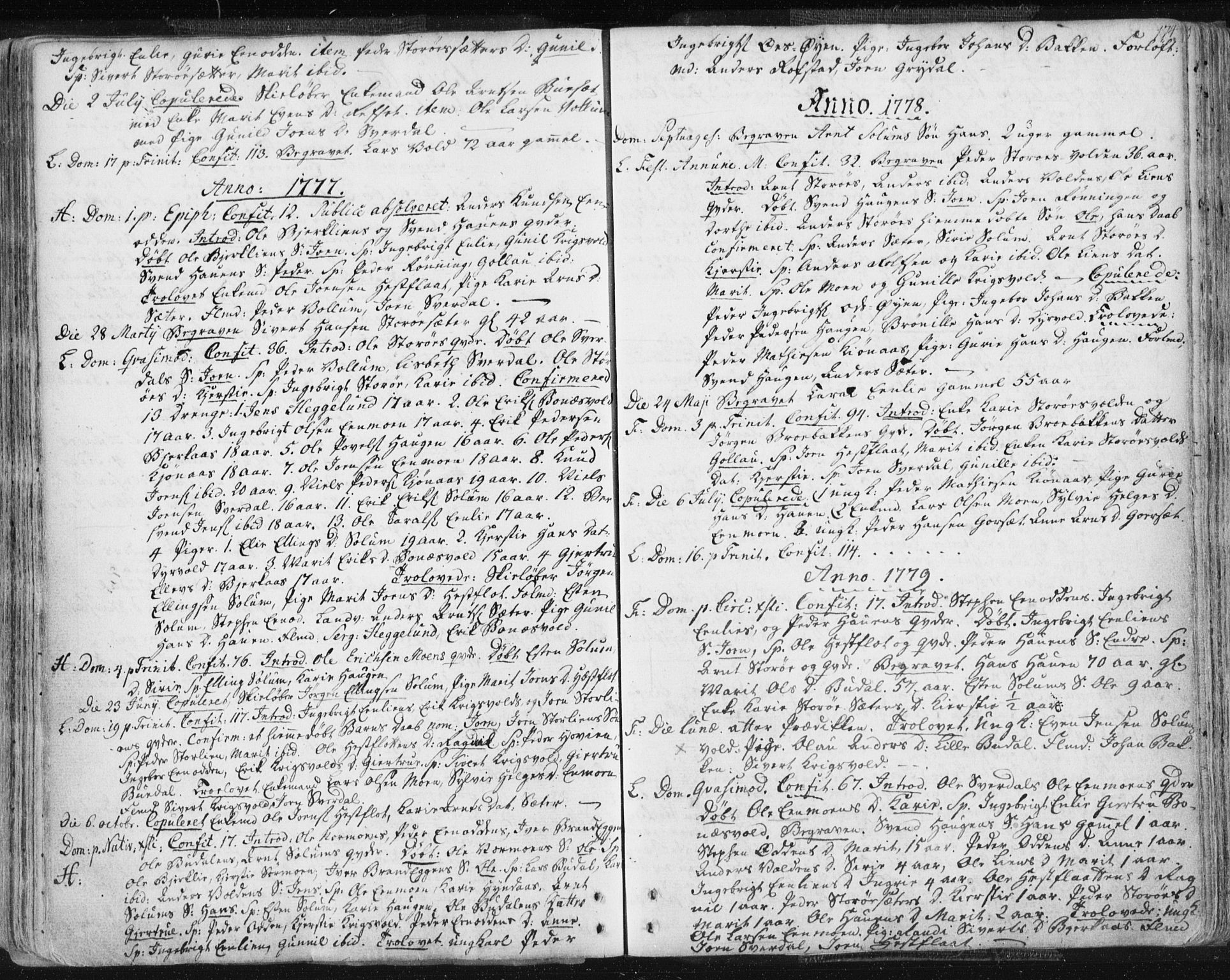 SAT, Ministerialprotokoller, klokkerbøker og fødselsregistre - Sør-Trøndelag, 687/L0991: Ministerialbok nr. 687A02, 1747-1790, s. 174