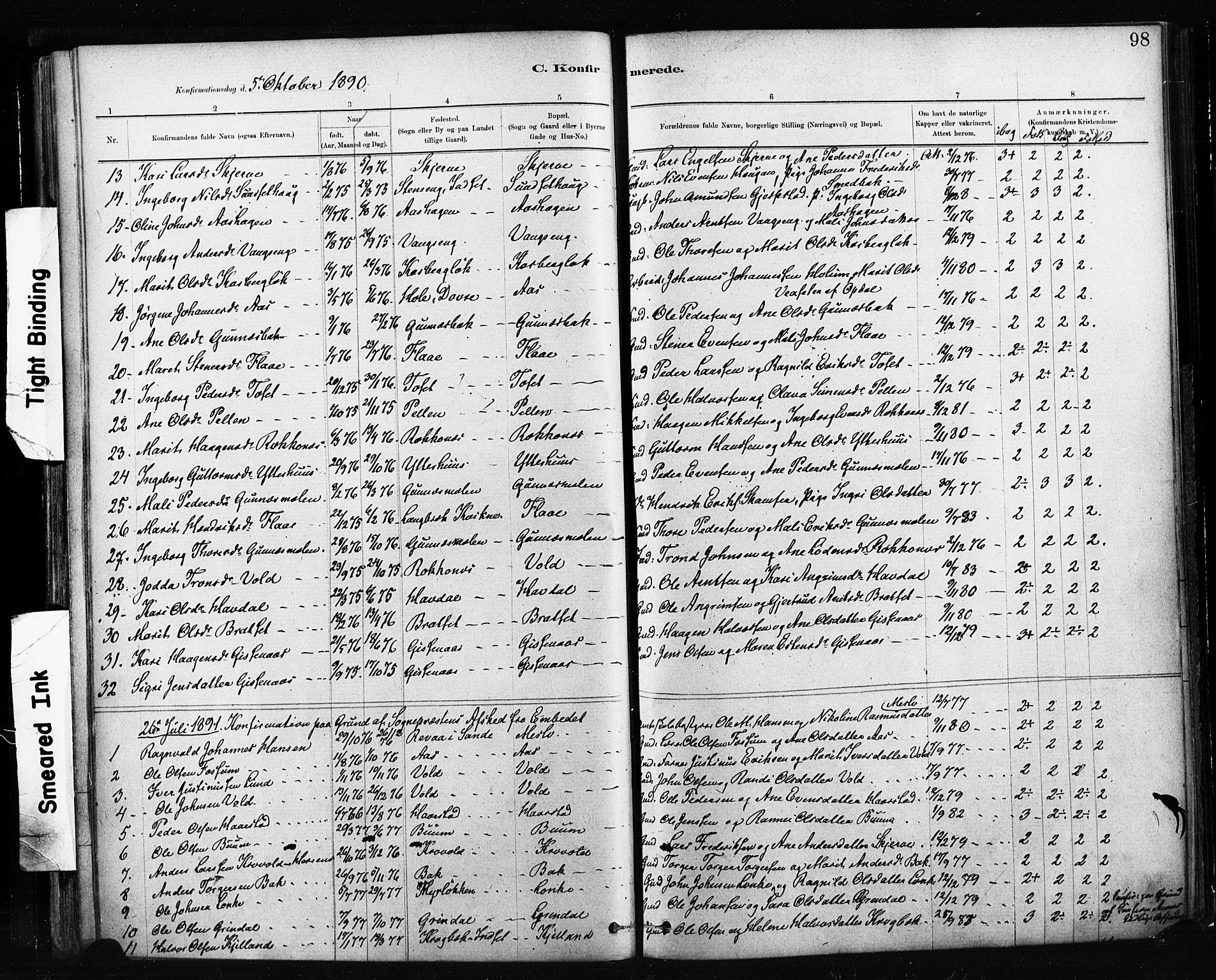 SAT, Ministerialprotokoller, klokkerbøker og fødselsregistre - Sør-Trøndelag, 674/L0871: Ministerialbok nr. 674A03, 1880-1896, s. 98