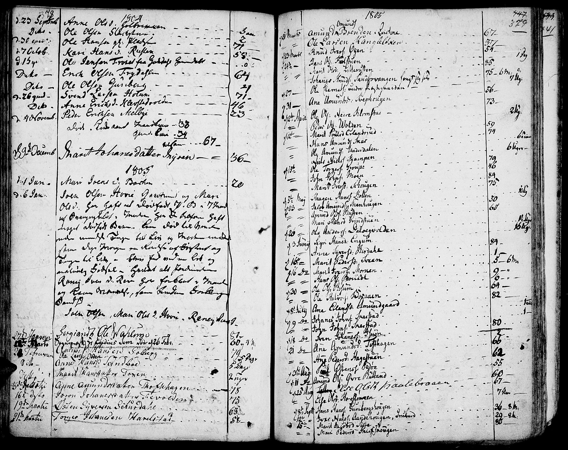 SAH, Fron prestekontor, H/Ha/Haa/L0001: Ministerialbok nr. 1, 1799-1816, s. 378-379