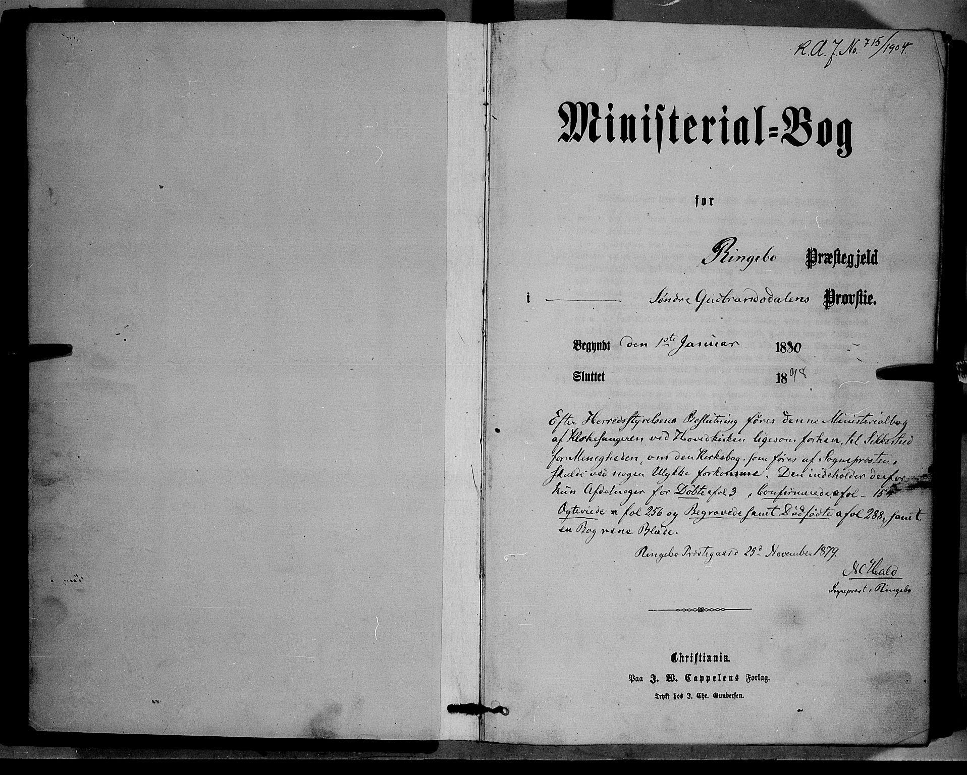 SAH, Ringebu prestekontor, Klokkerbok nr. 6, 1880-1898